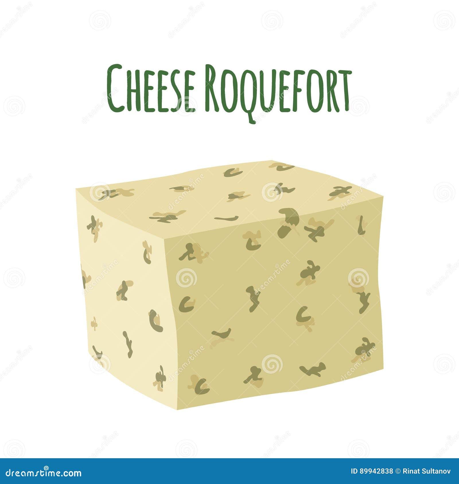 Сыр рокфора с прессформой Продукт молокозавода milky Плоский стиль
