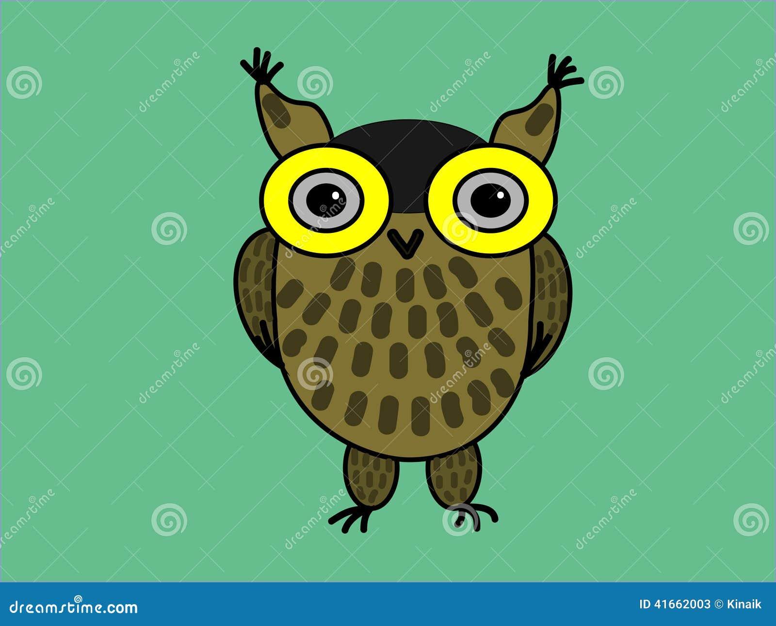 Сыч орла коричневого цвета на зеленой предпосылке