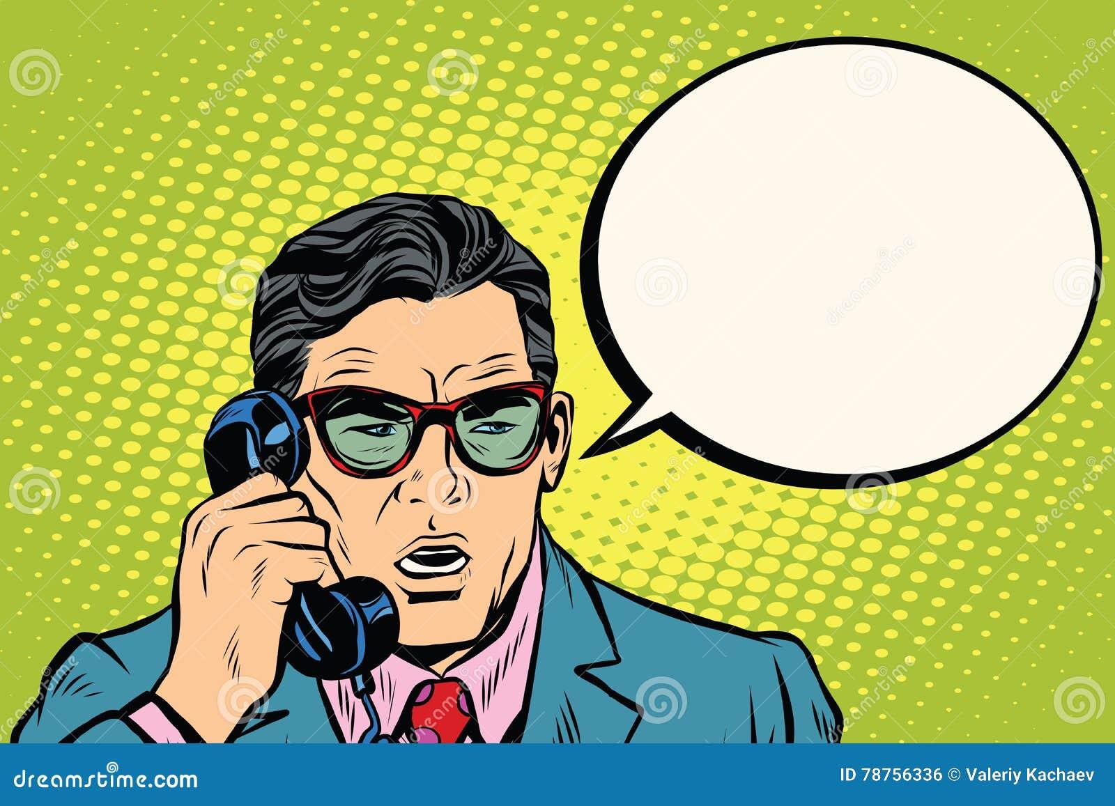 сярприз Бизнесмен говоря на телефоне