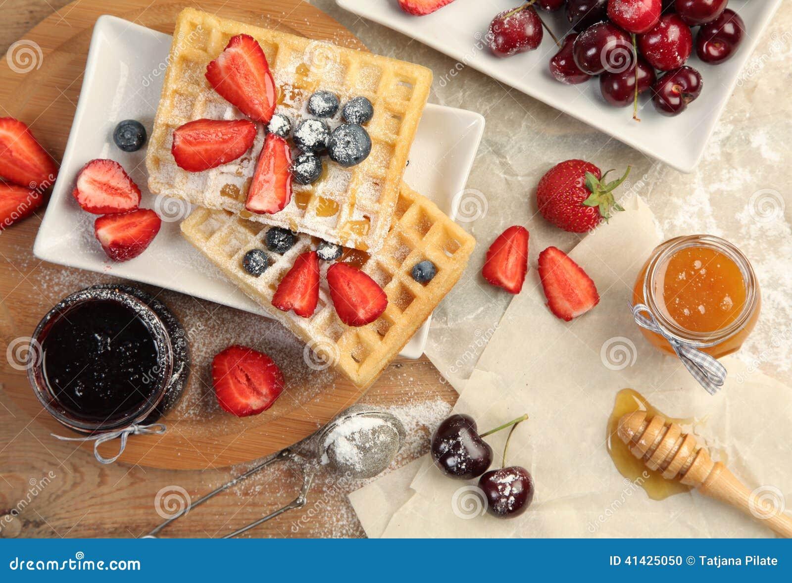 сладостные waffles