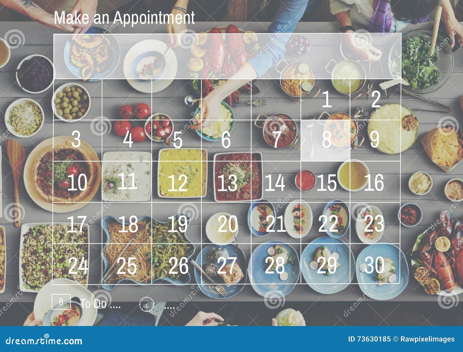 Сделайте планирование организации план-графика календаря назначения Conc