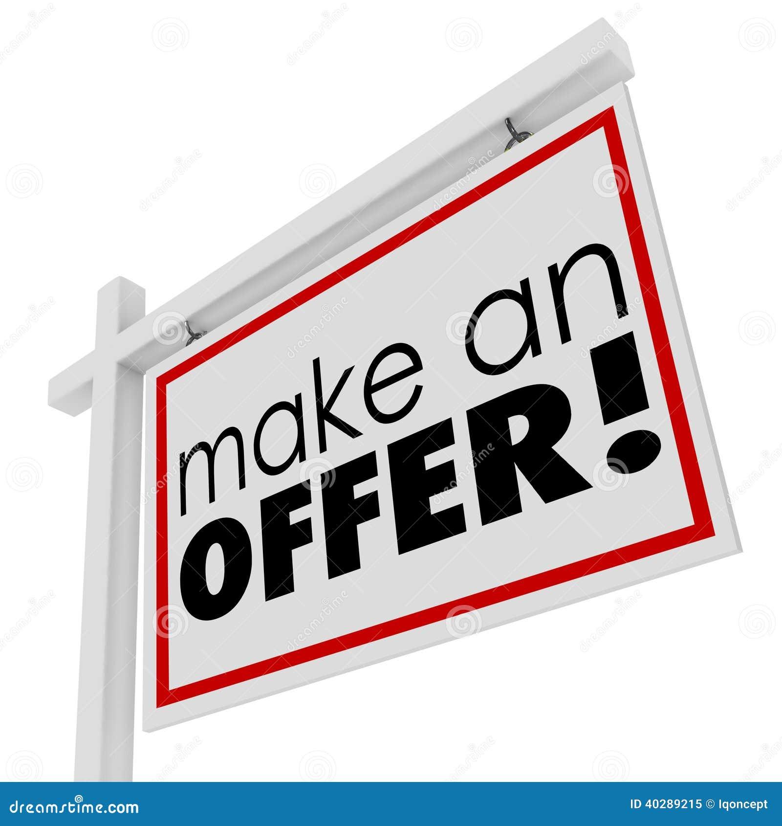 Сделайте цену покупателя знака недвижимости слов предложения для продажи