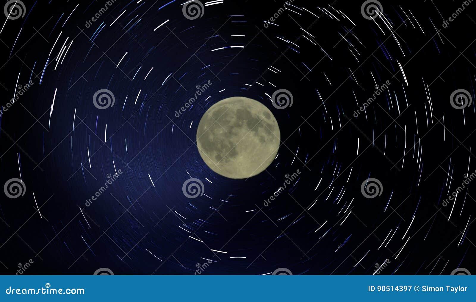 Следы луны и звезды