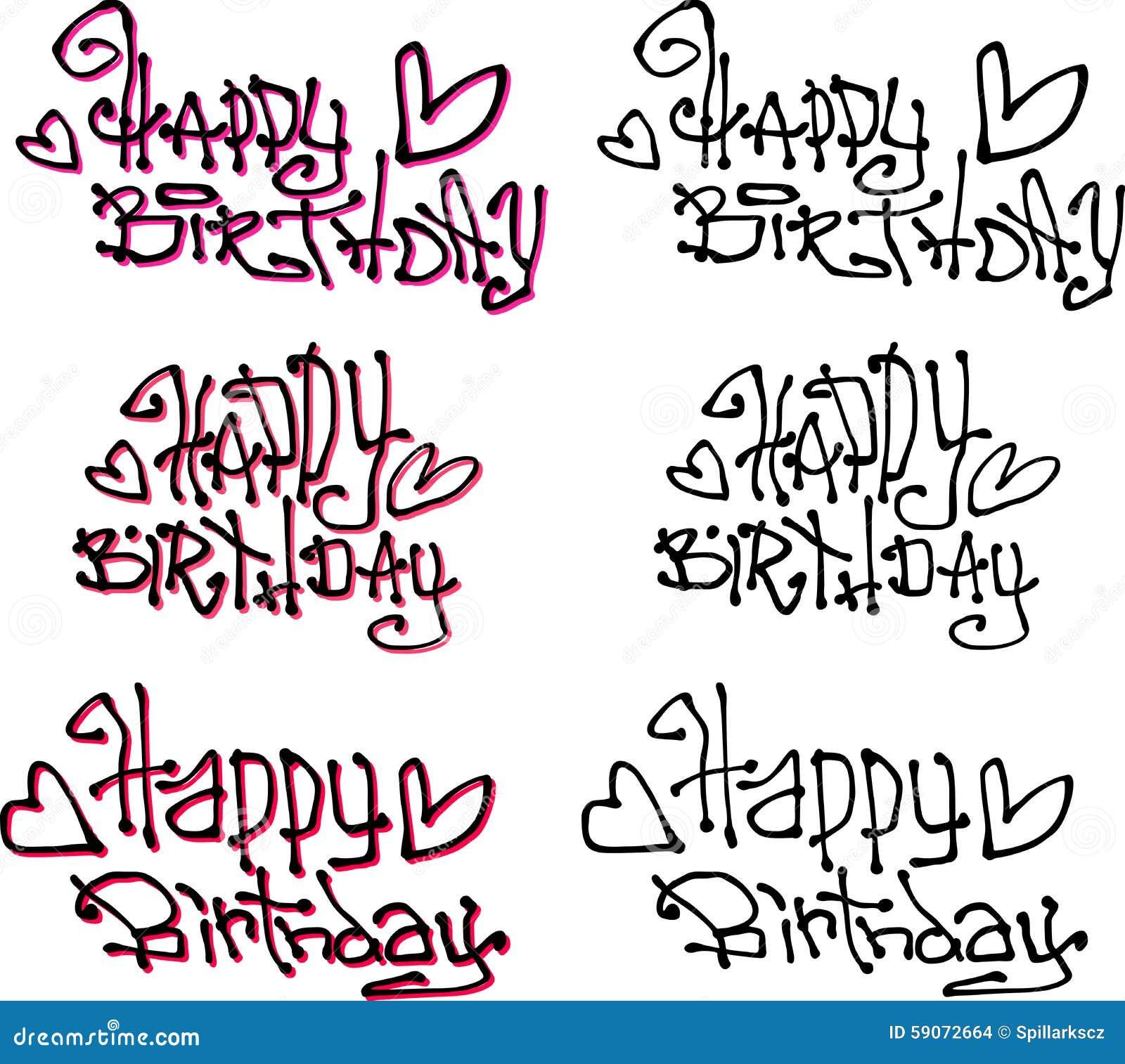 Шрифт для поздравления с днем рождения фото 28