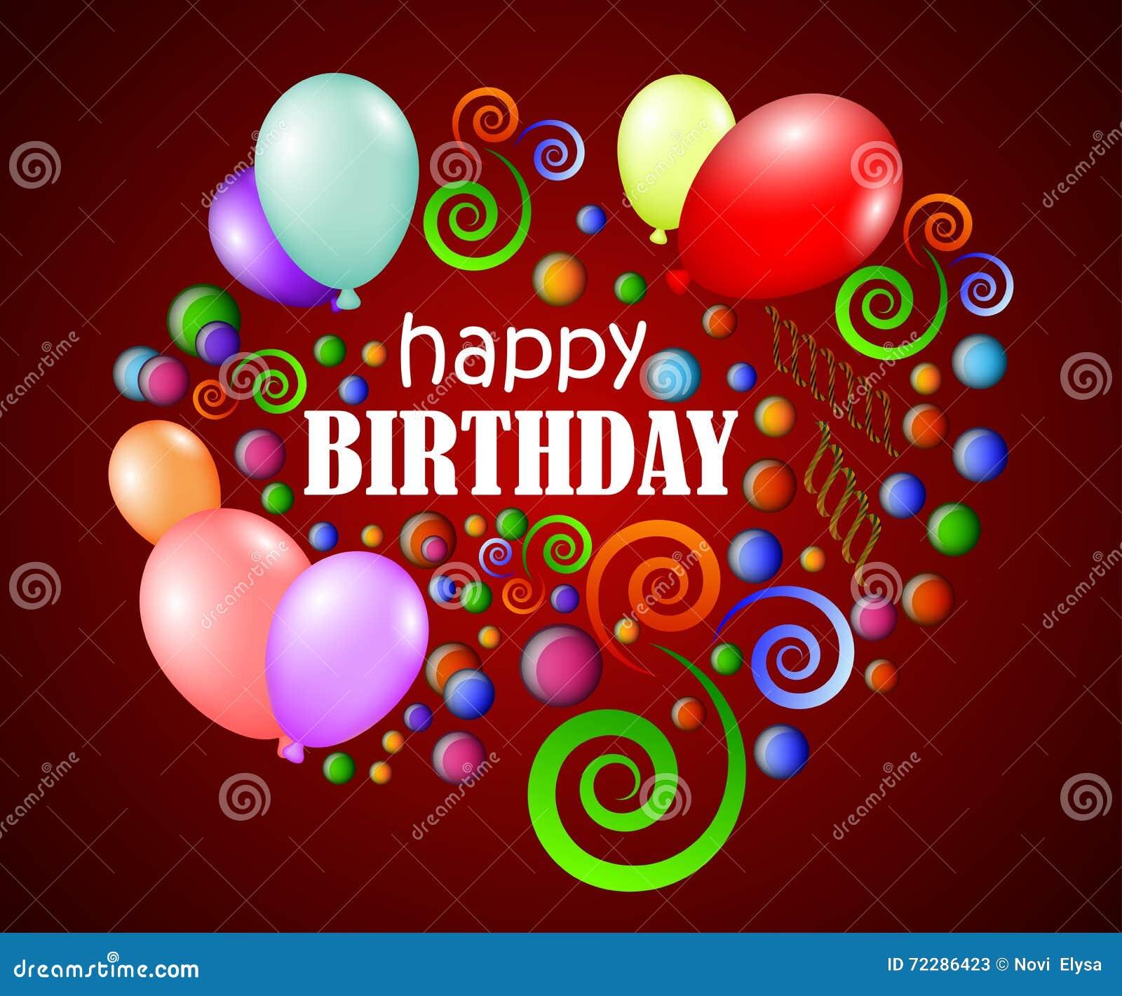 Download С днем рождения предпосылка с красочными лоснистыми шариками и цветом раздувает Иллюстрация вектора - иллюстрации насчитывающей приветствие, украшение: 72286423