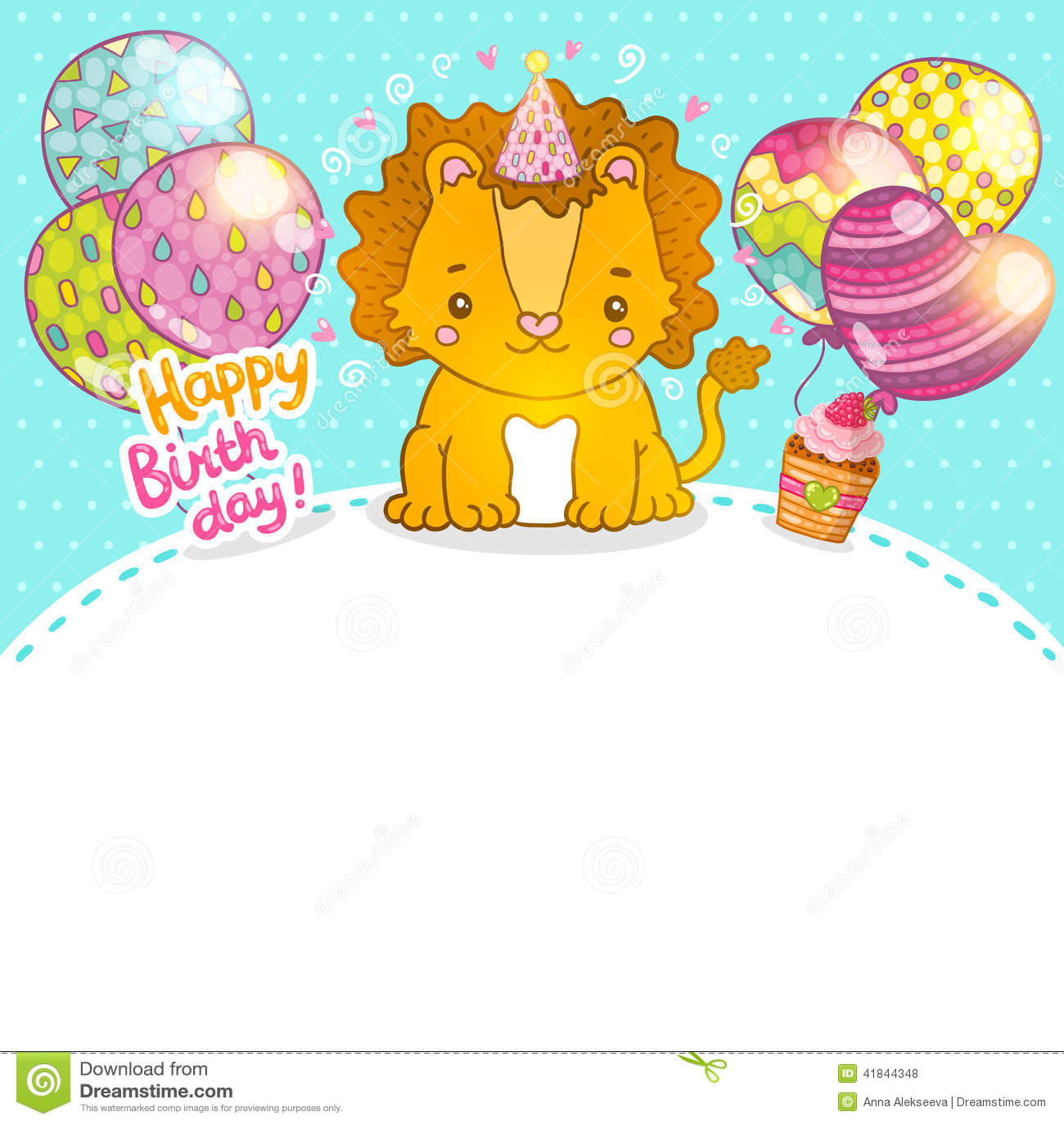 Открытки с львенком с днем рождения