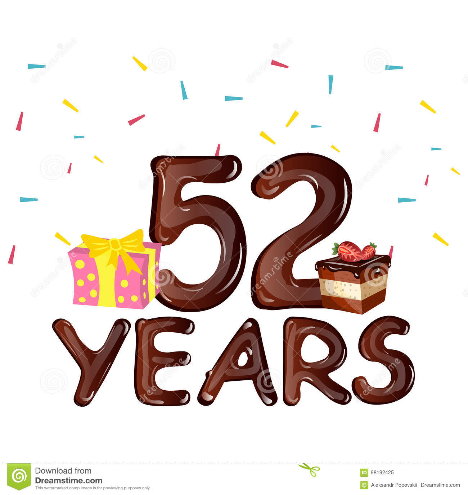52 года поздравления с днем рождения