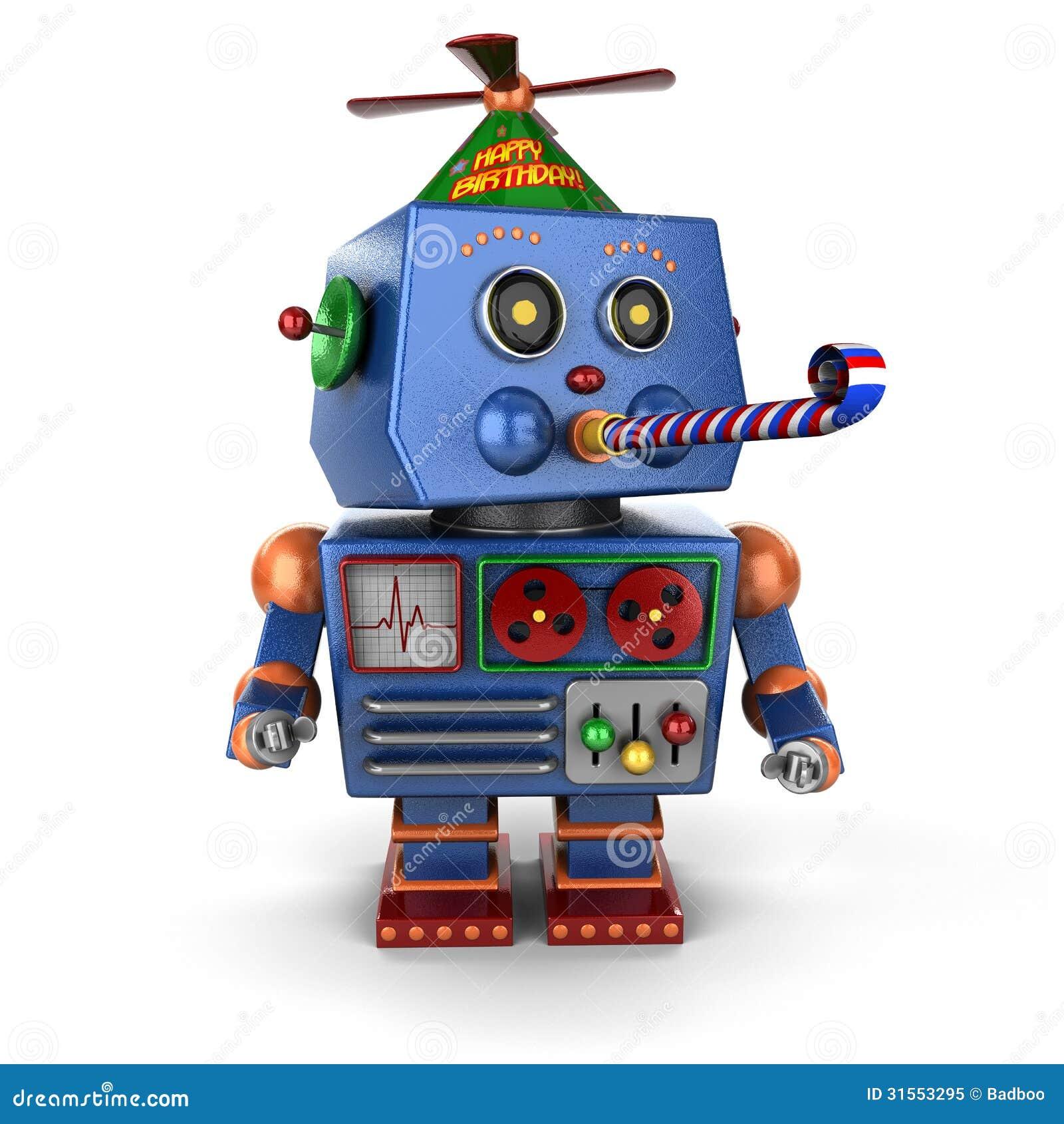 Поздравление робота с днем рождения