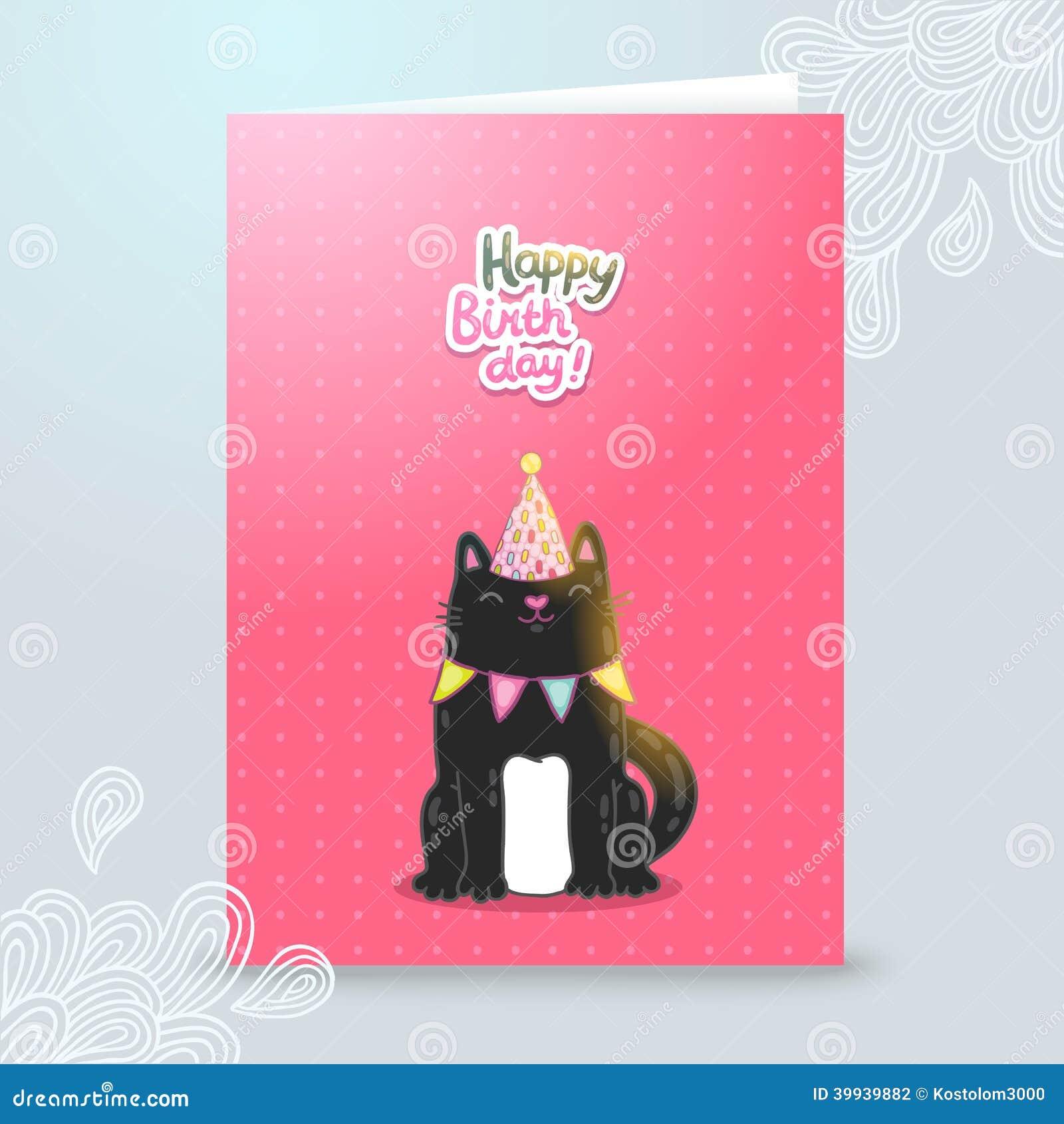 180Открытка с днем рождения с котом своими руками