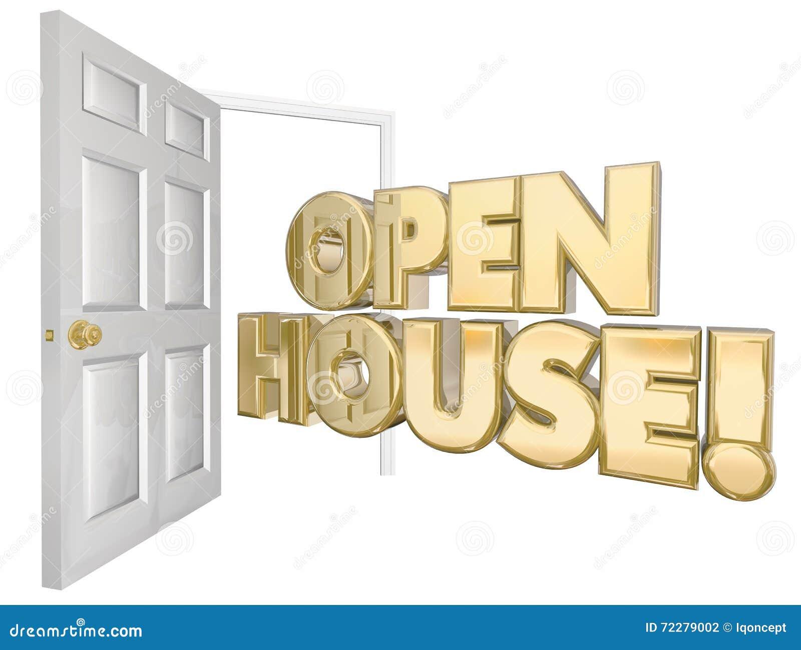Download Слова двери внутренней продажи открытого дома Иллюстрация штока - иллюстрации насчитывающей продавец, внутрь: 72279002