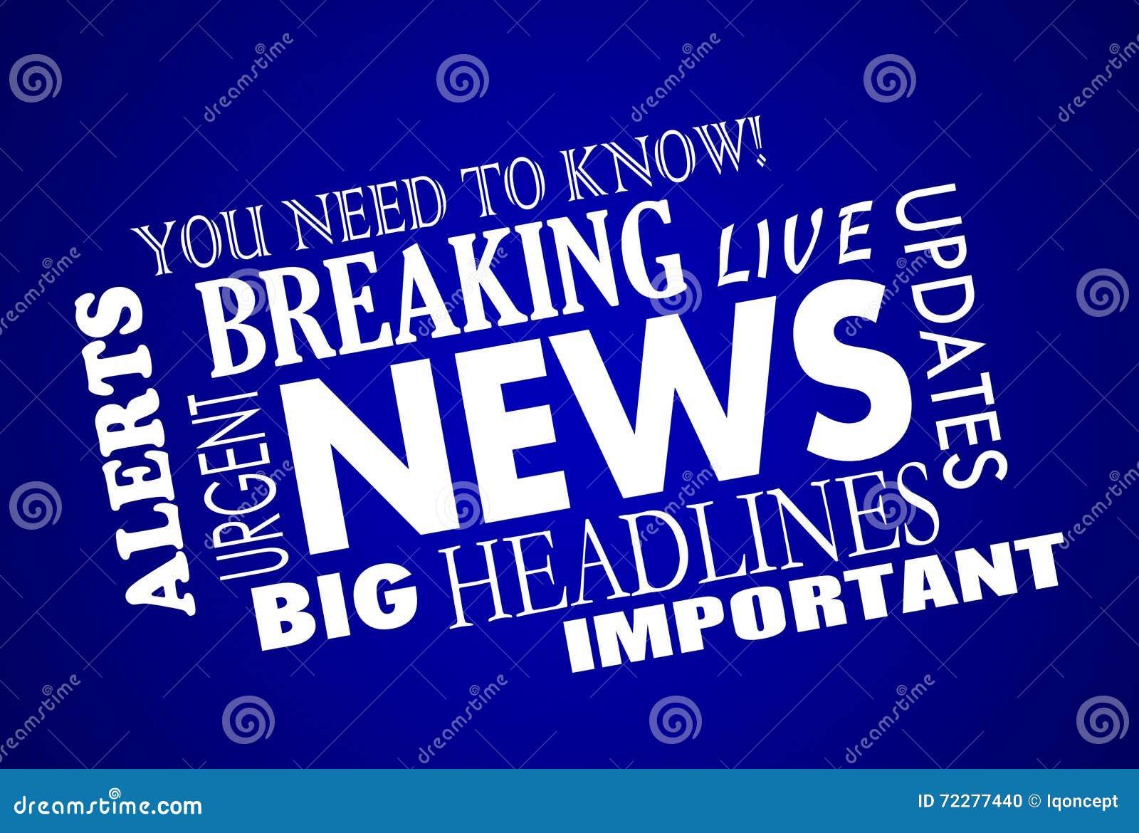 Download Слова заголовков последних новостей Иллюстрация штока - иллюстрации насчитывающей ломая, updates: 72277440