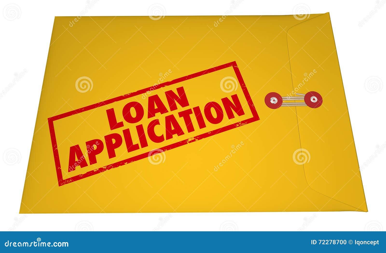 Download Слова заявки на кредит желтым проштемпелеванные конвертом Иллюстрация штока - иллюстрации насчитывающей прикладывают, одобрено: 72278700