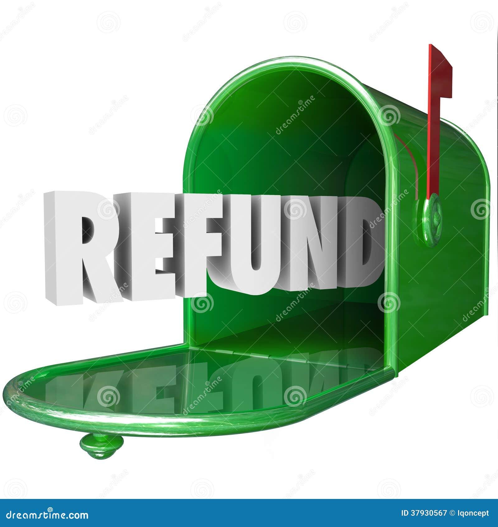 Слово возмещения получает налог поставки почтового ящика денег задний