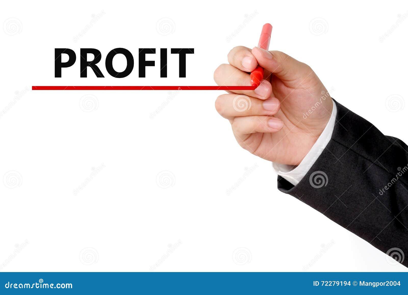 Download Слово выгоды сочинительства руки бизнесмена на белой предпосылке Иллюстрация штока - иллюстрации насчитывающей чертеж, персона: 72279194