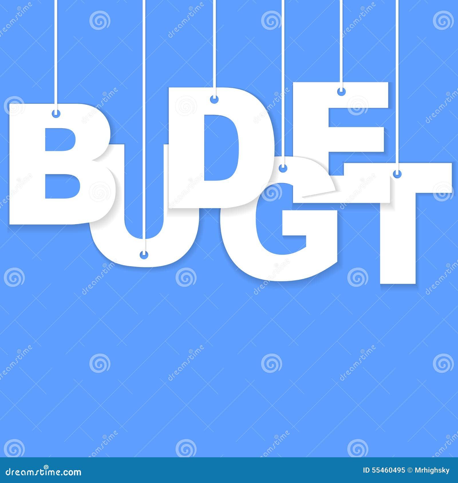 слово отрезка бумаги бюджета 3d