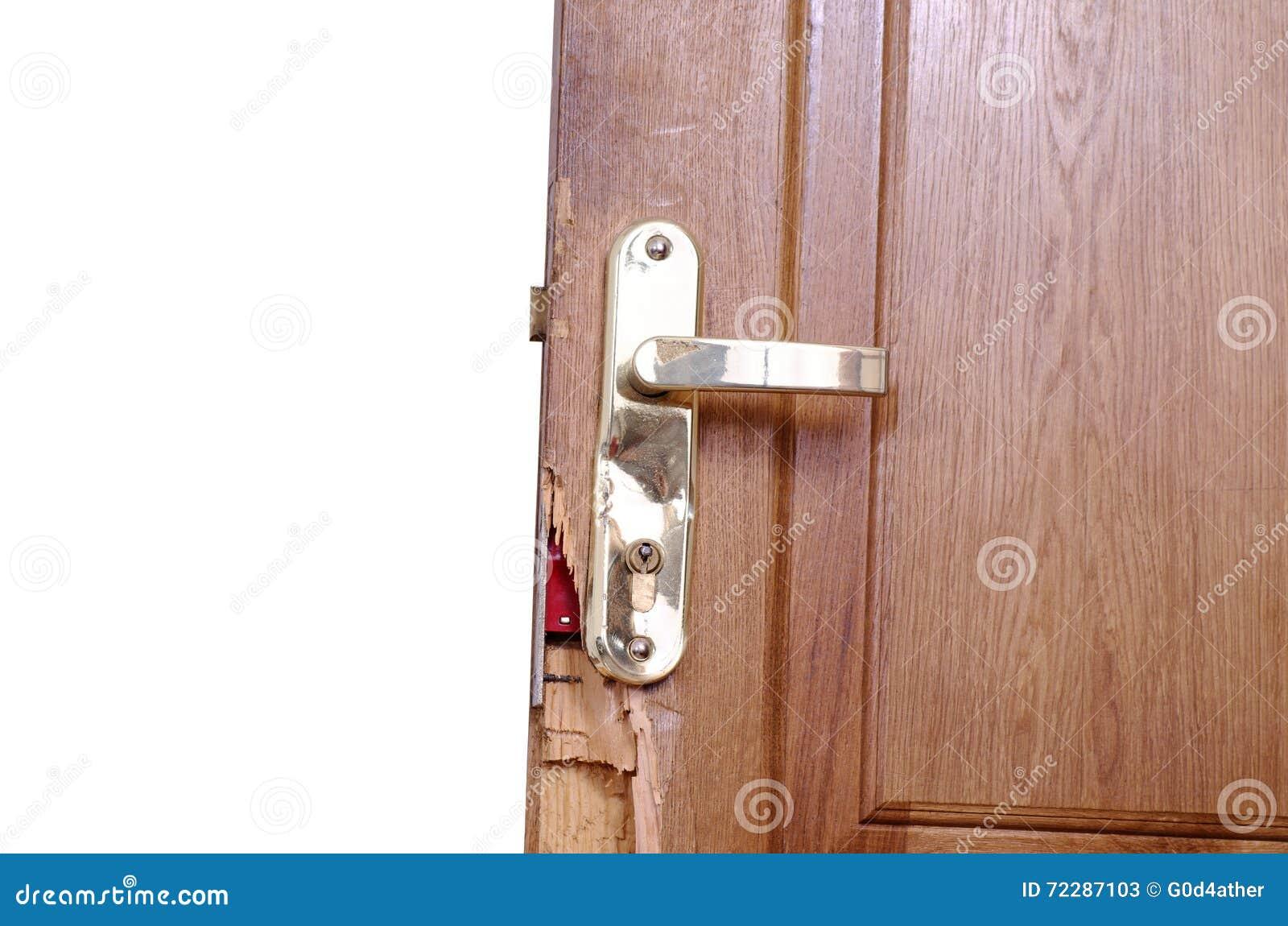 Download сломленная дверь стоковое изображение. изображение насчитывающей имущество - 72287103