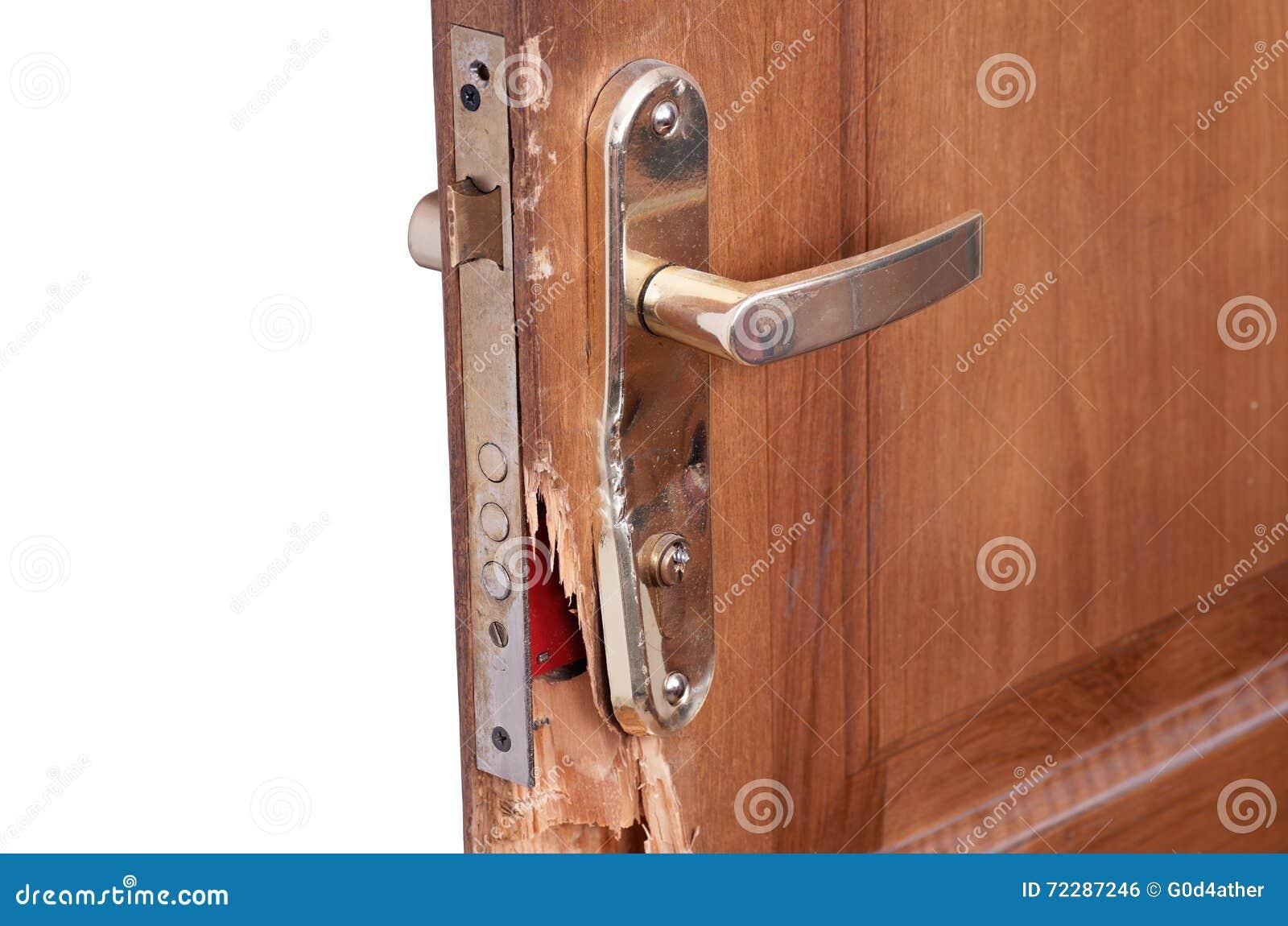 Download сломленная дверь стоковое фото. изображение насчитывающей свойство - 72287246