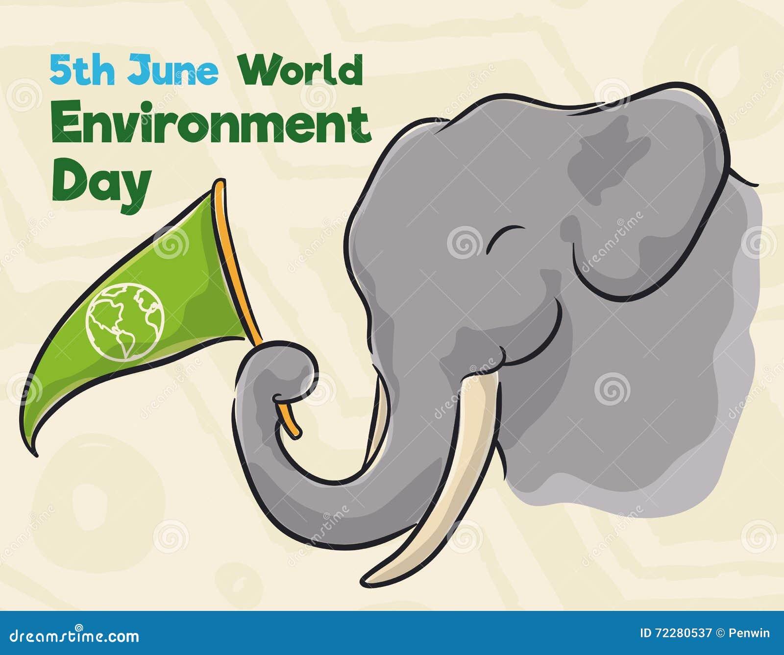 Download Слон при вымпел чествуя день мировой окружающей среды в стиле акварели, иллюстрации вектора Иллюстрация вектора - иллюстрации насчитывающей консервация, жизнь: 72280537