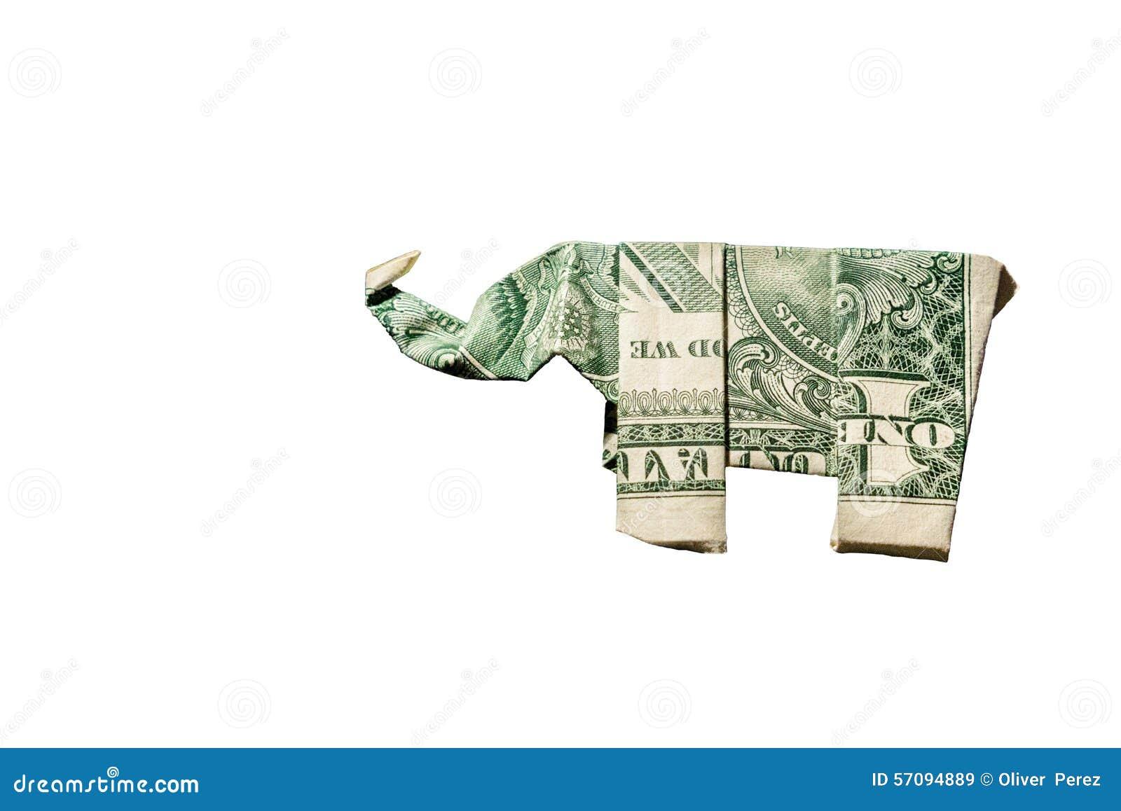 Слон Origami