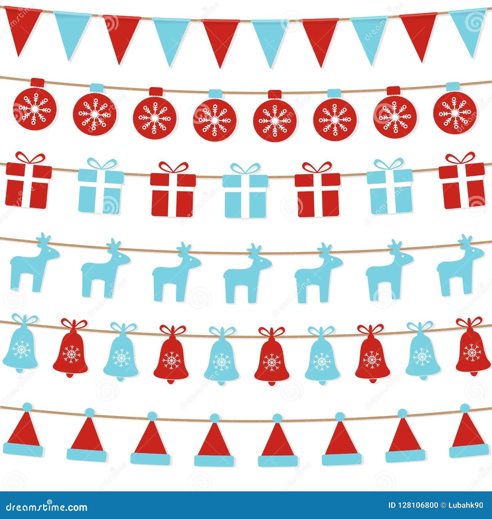 С Рождеством Христовым предпосылка с овсянкой xmas сигнализирует, шарики, подарочные коробки, северные олени, колоколы, шляпа san
