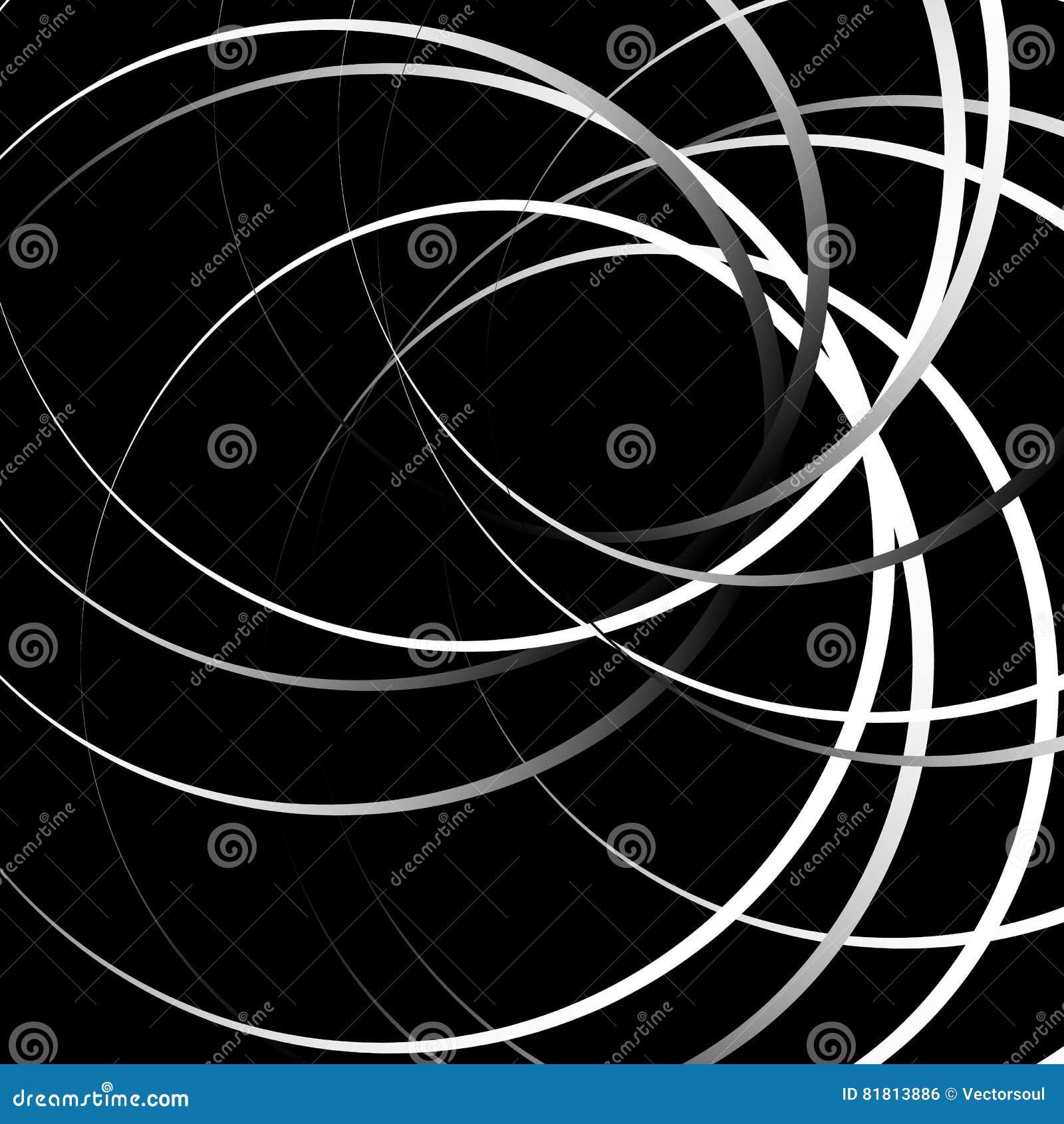 Случайные концентрические круги с точками Циркуляр, ele дизайна спирали