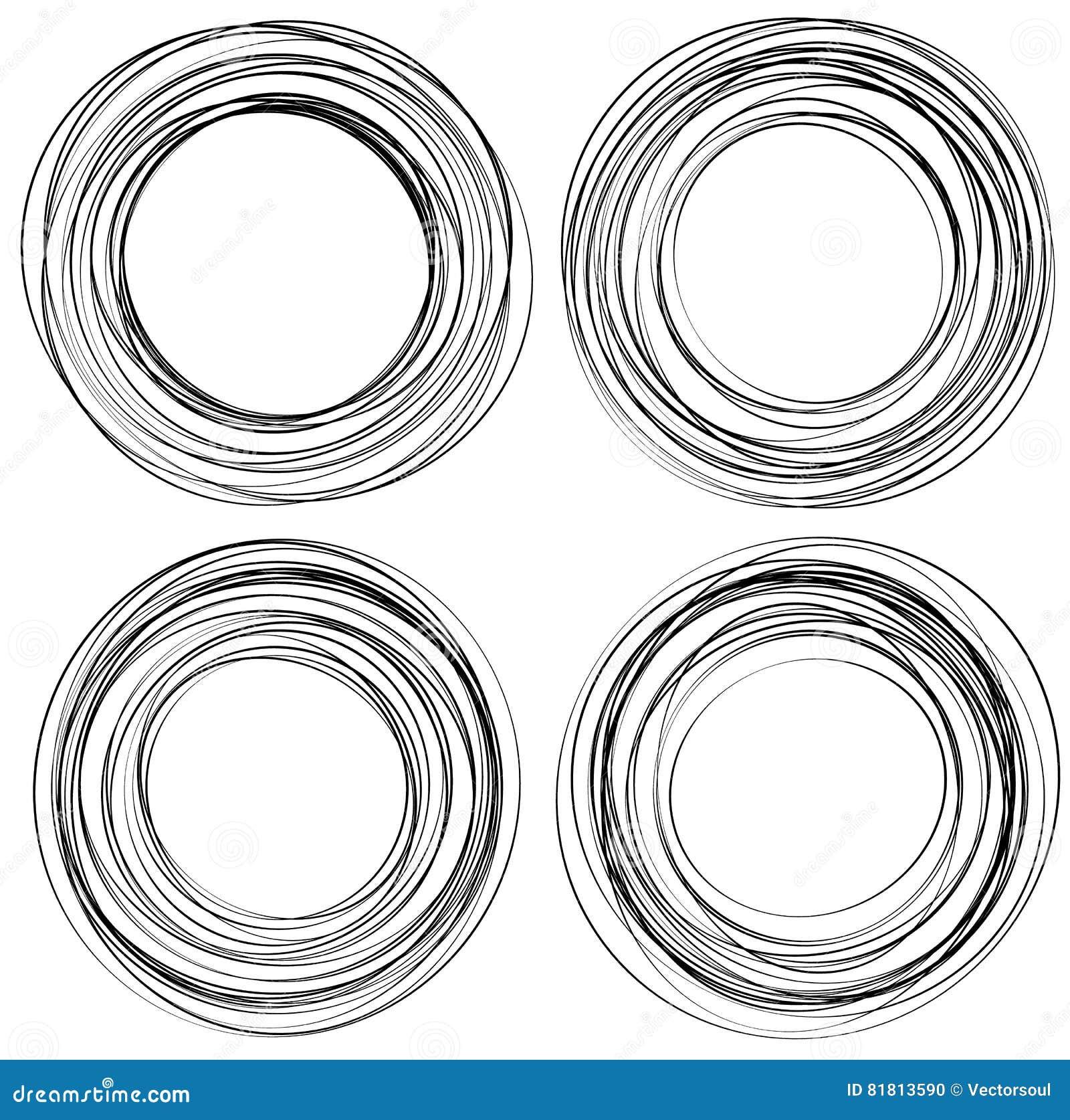 Случайные круги scribble Концентрические круги в styl нарисованном рукой