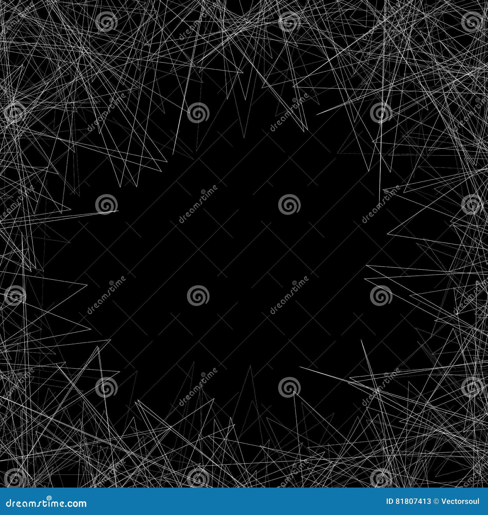 Случайные нервные формы на ` s художественного произведения окаймляются Рамка Gometric, backgroun