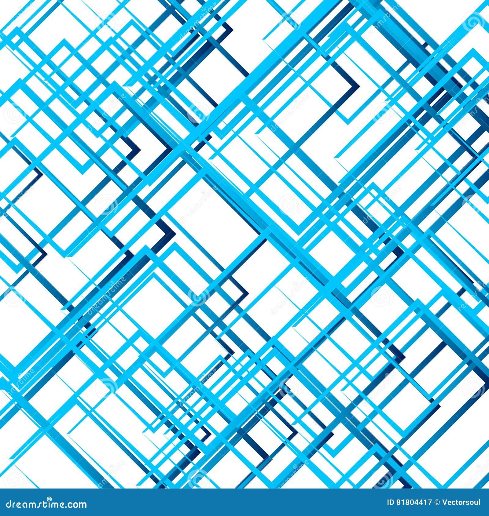Случайные пересекая линии, квадраты Современное красочное геометрическое te