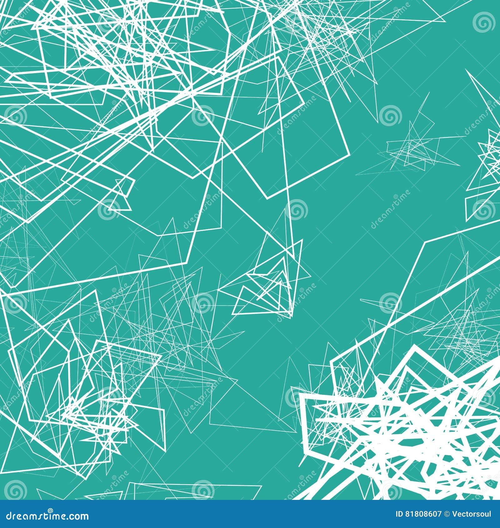 Случайные схематичные линии резюмируют monochrome предпосылку, картину
