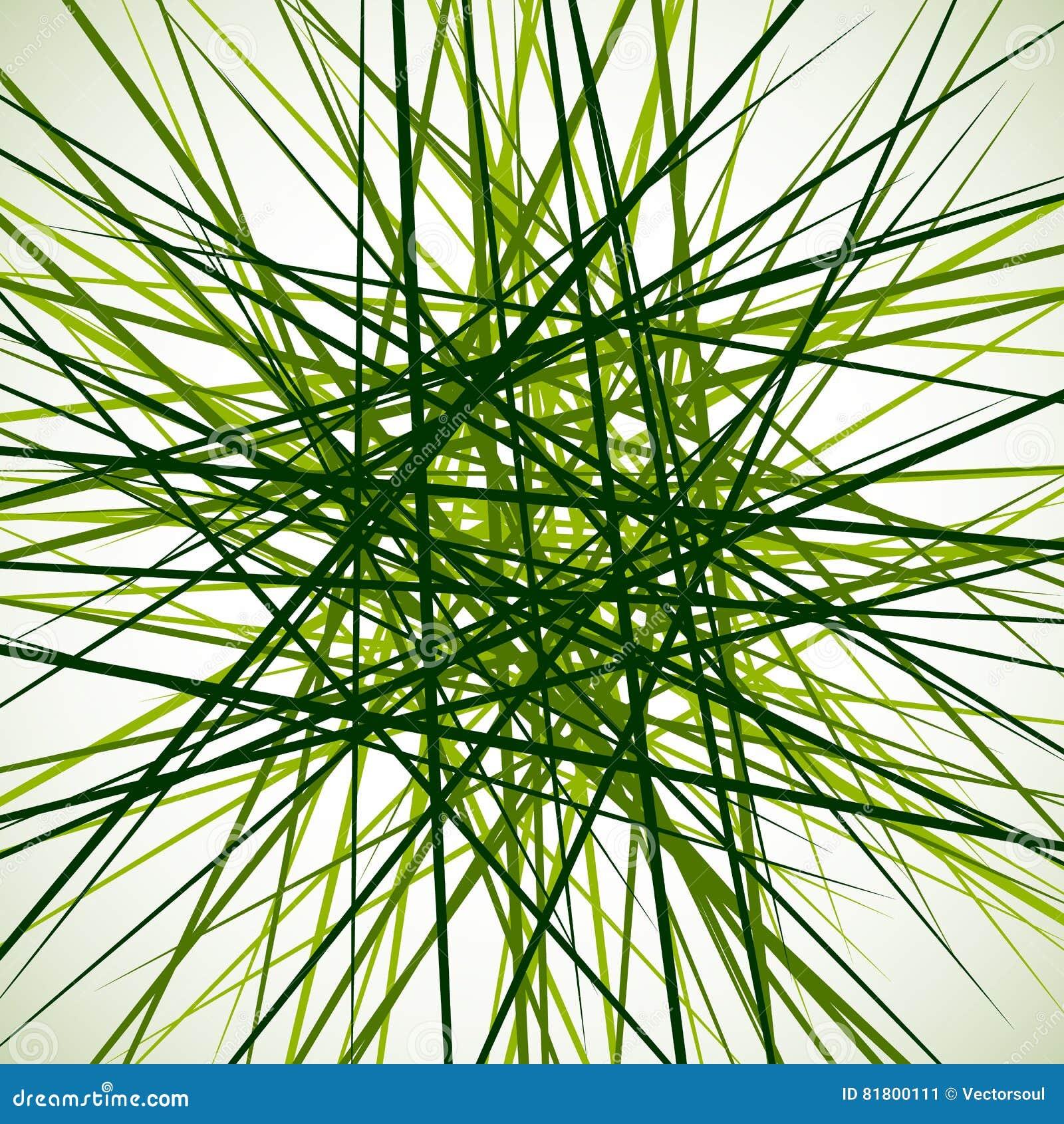 Случайные хаотические пересекая линии Абстрактный геометрический monochrome