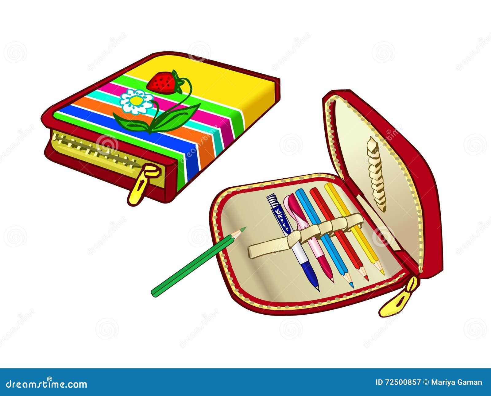 Случай карандаша детей для школы Сподручный мешок для ручек и покрашенных карандашей