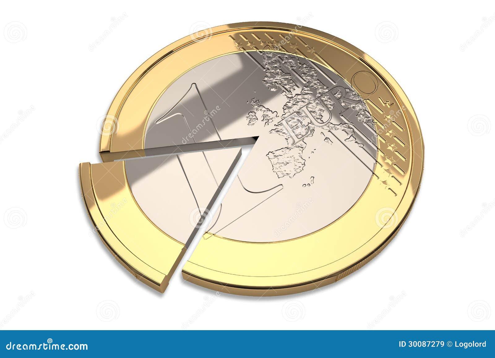 En euro myntar