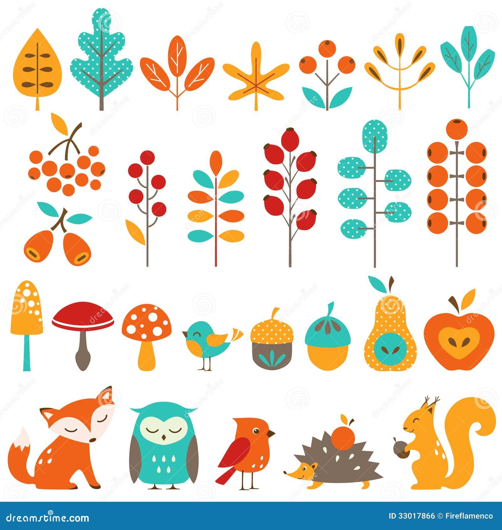 Ute autumn design elements for Decoration elements