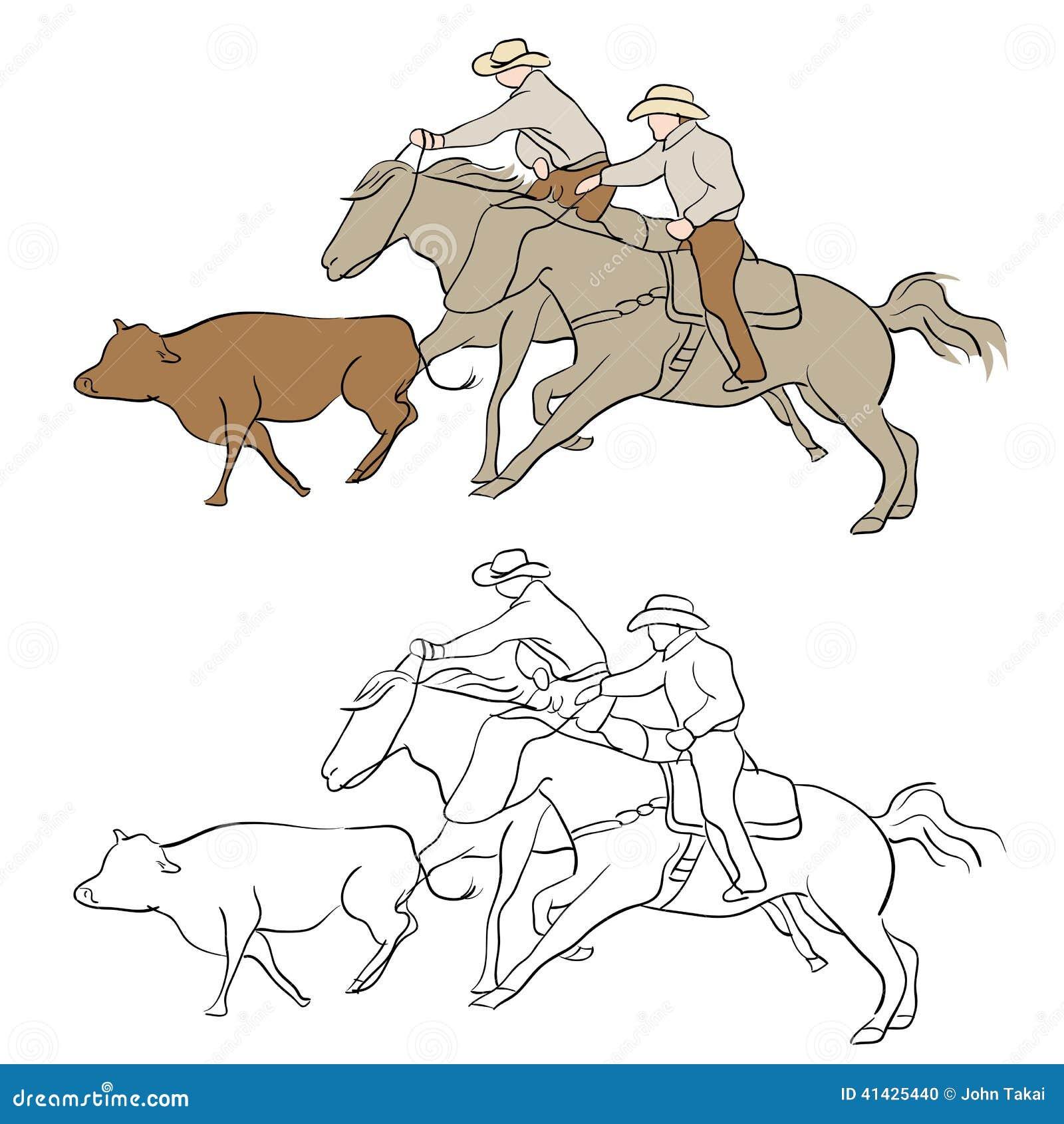 табунить ковбоя скотин