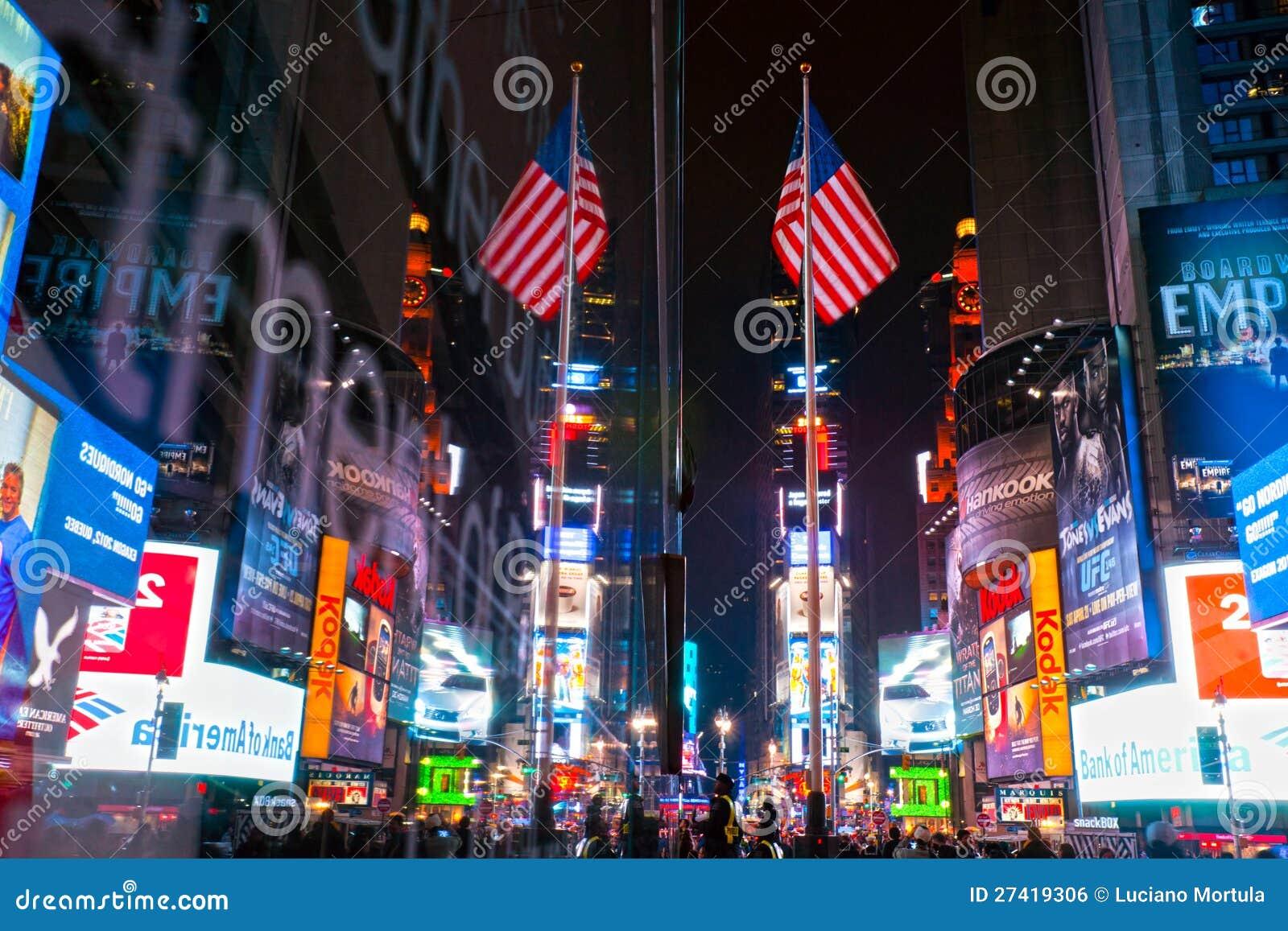 Таймс площадь, New York, США.