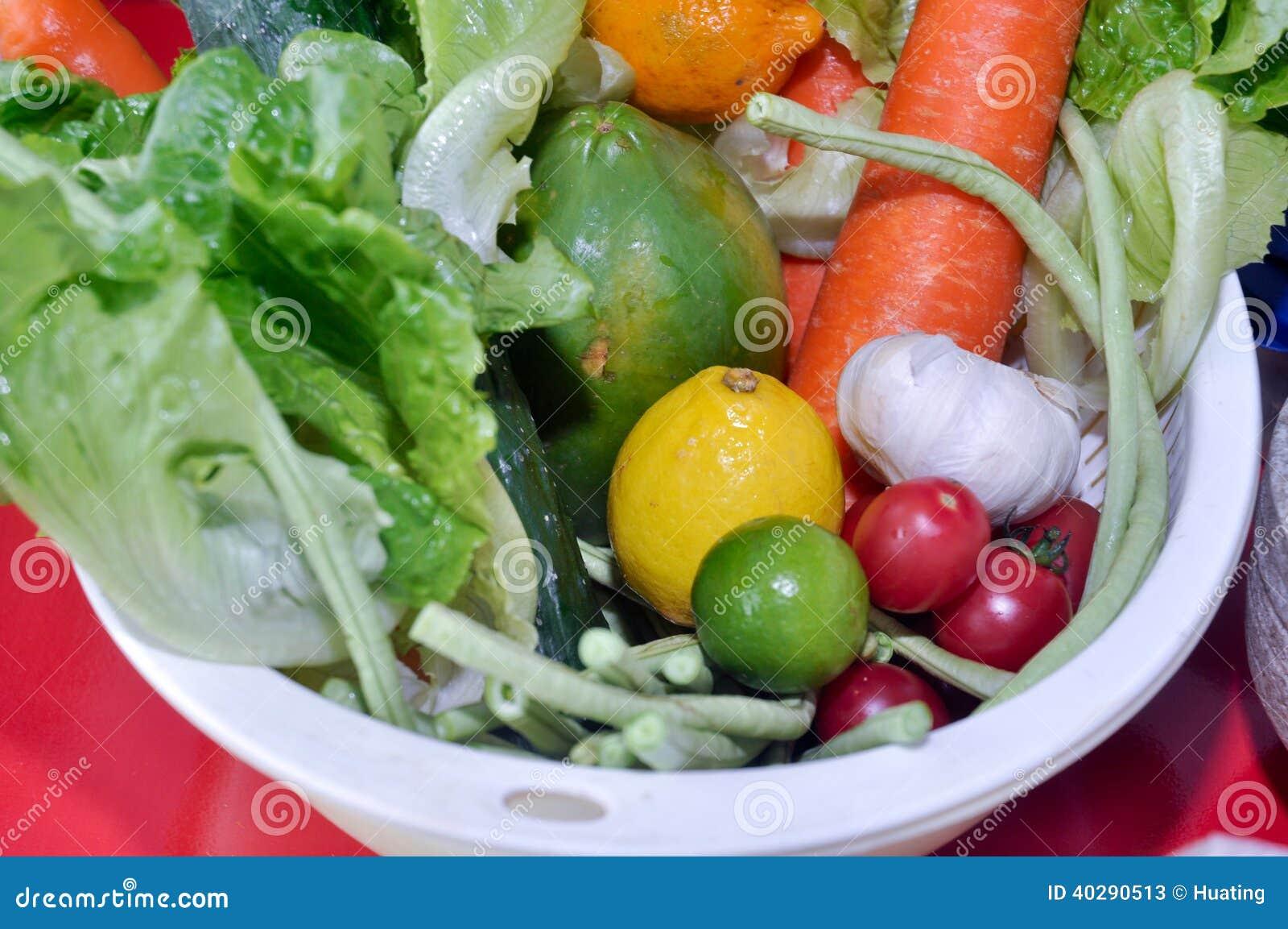 Тайские овощи салата