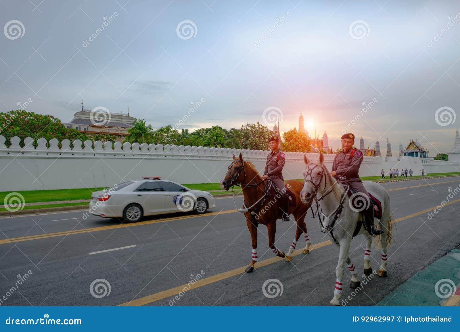 Тайские предохранители полиции верховые лошади