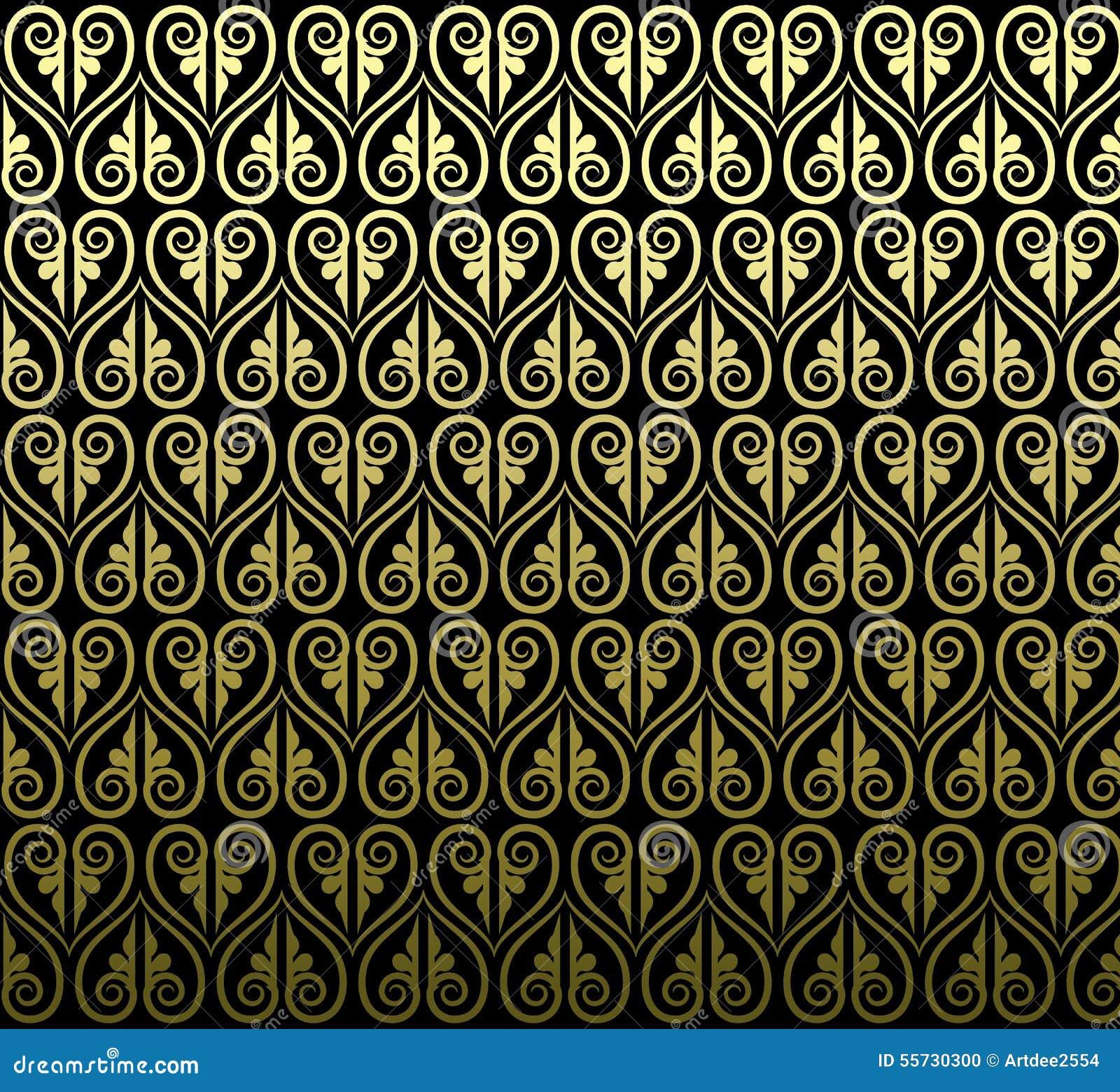 Тайский дизайн традиционного искусства Тайская предпосылка искусства, тайское patte искусства