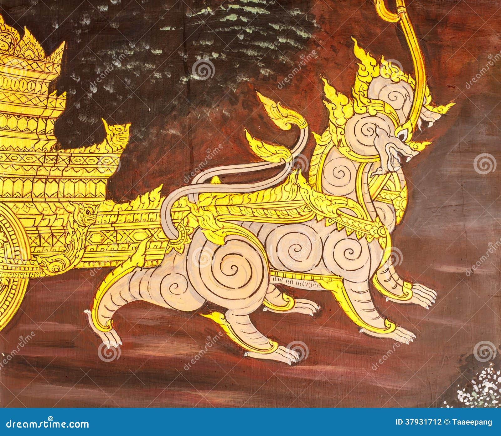 Тайское искусство картины стиля