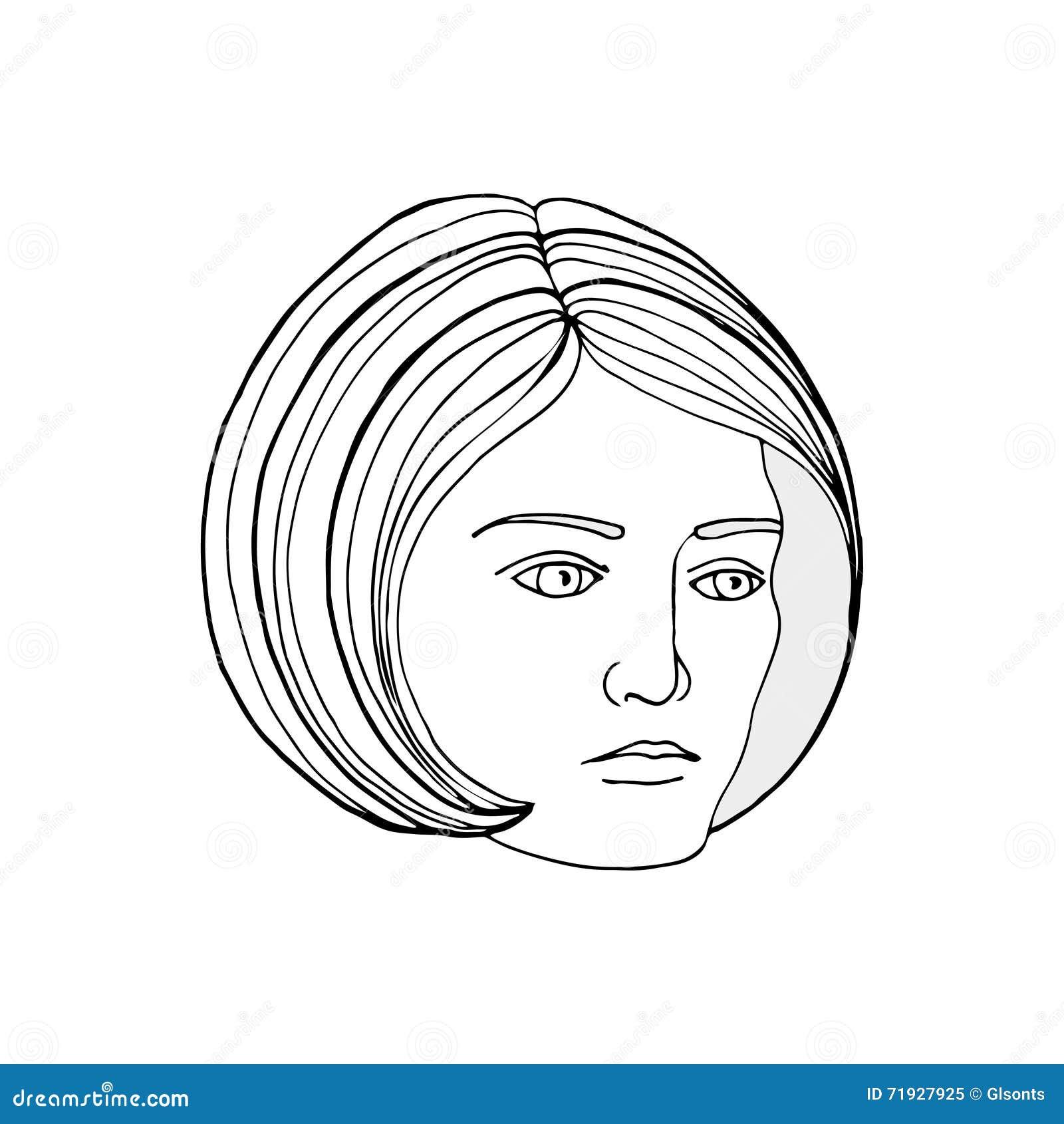 также вектор иллюстрации притяжки corel Сторона молодой женщины