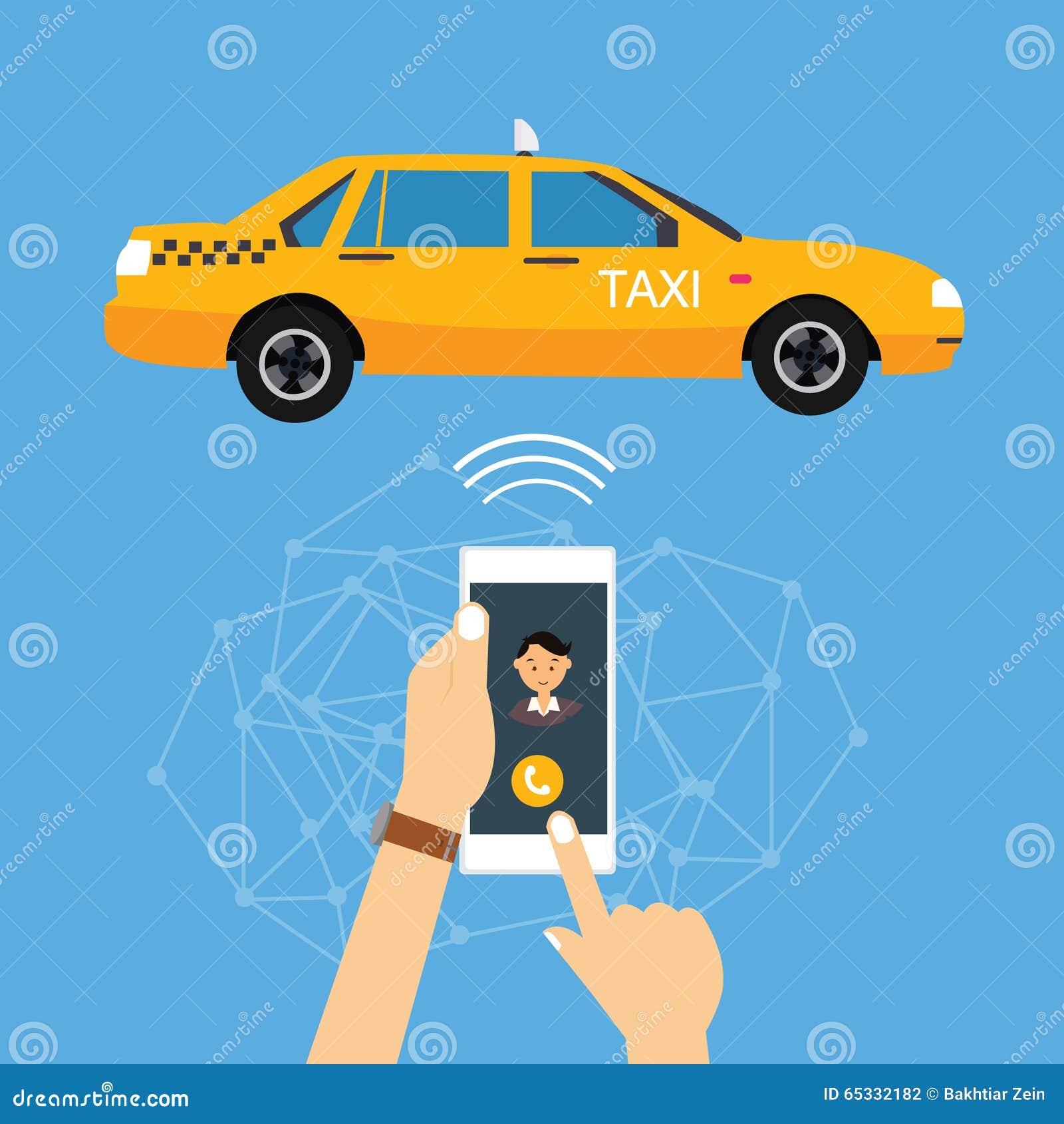 Такси звонка от применения мобильного телефона онлайн