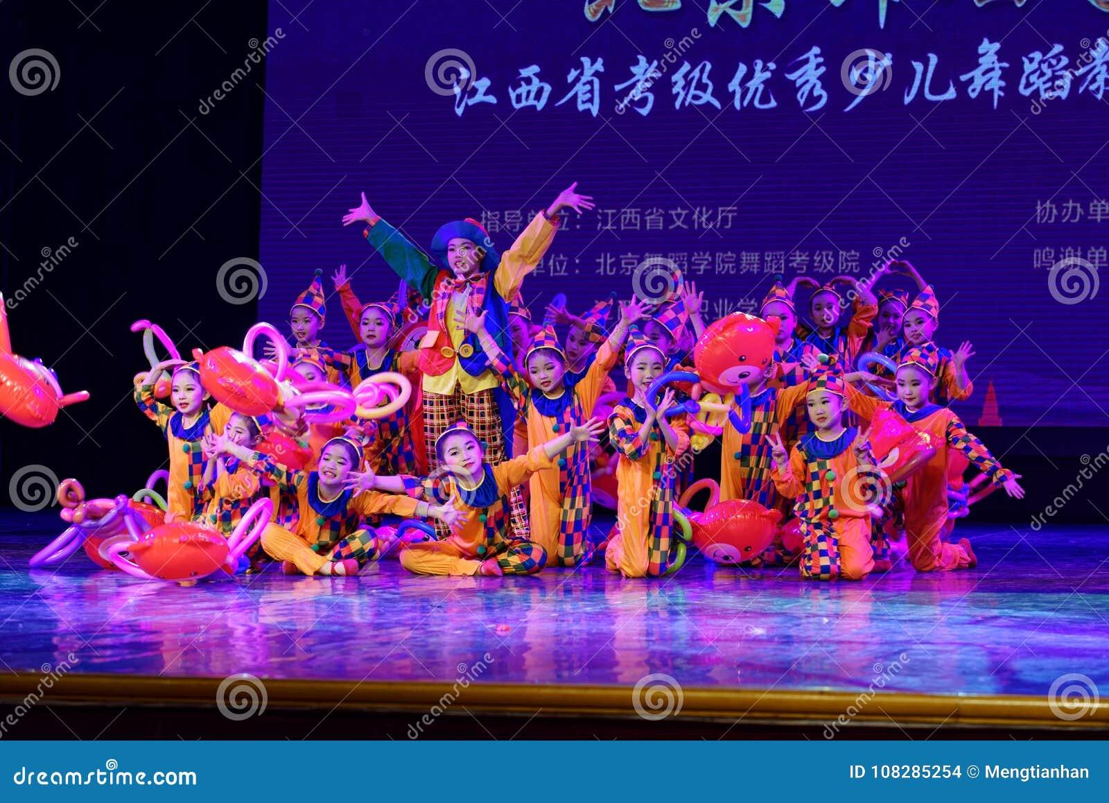 Танца ` s детей испытания академии танца Пекина парка атракционов сортируя выставка Цзянси достижения выдающего уча