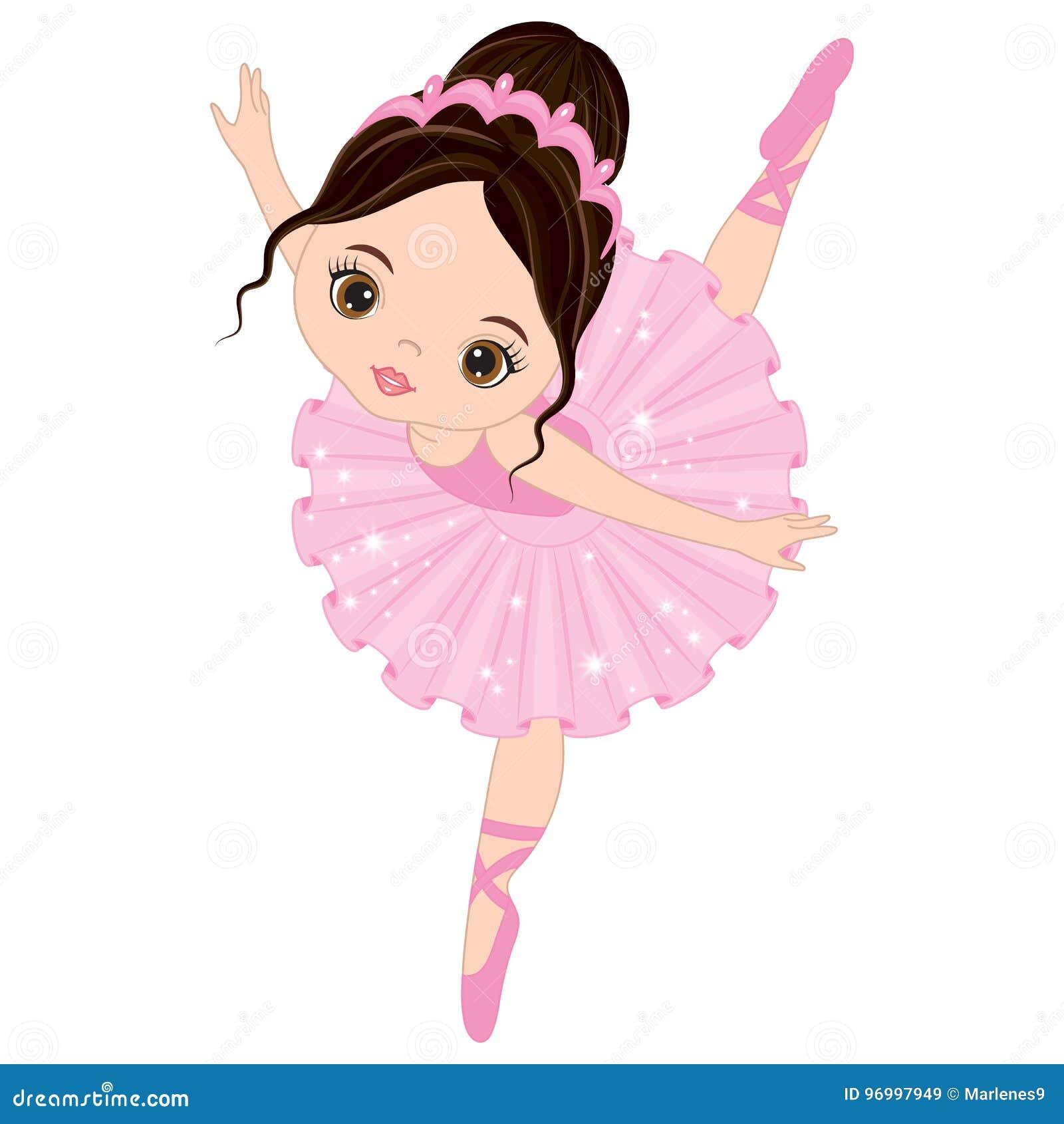 Танцы балерины вектора милые маленькие