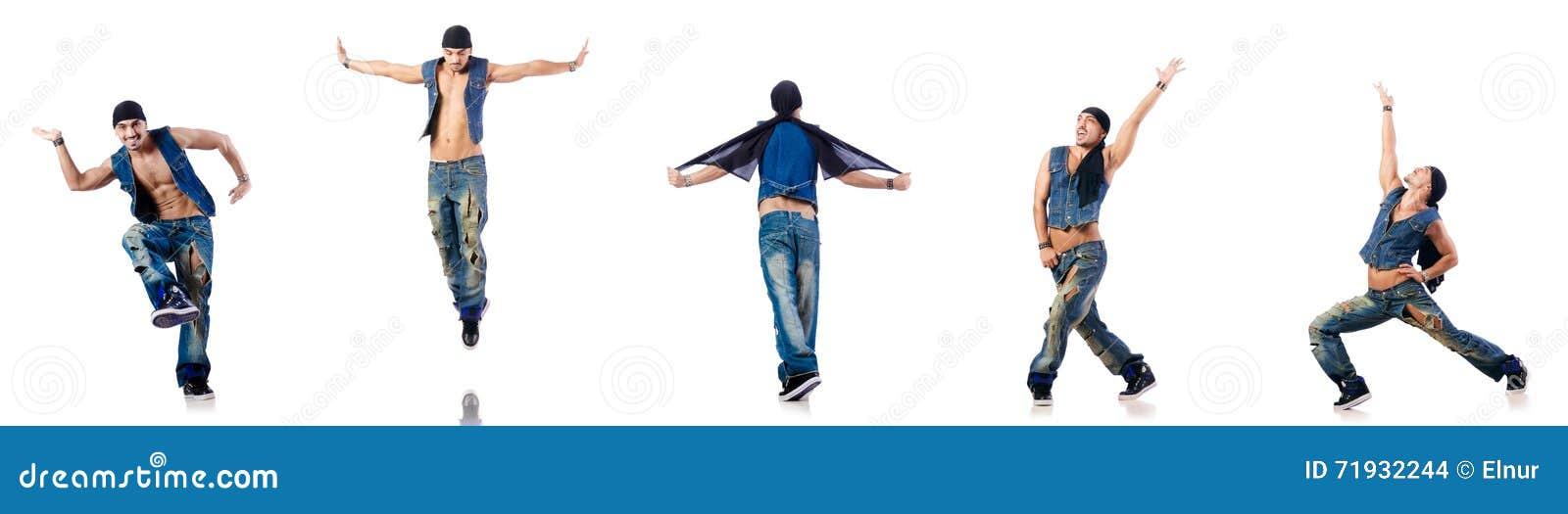 Танцы танцора на белизне