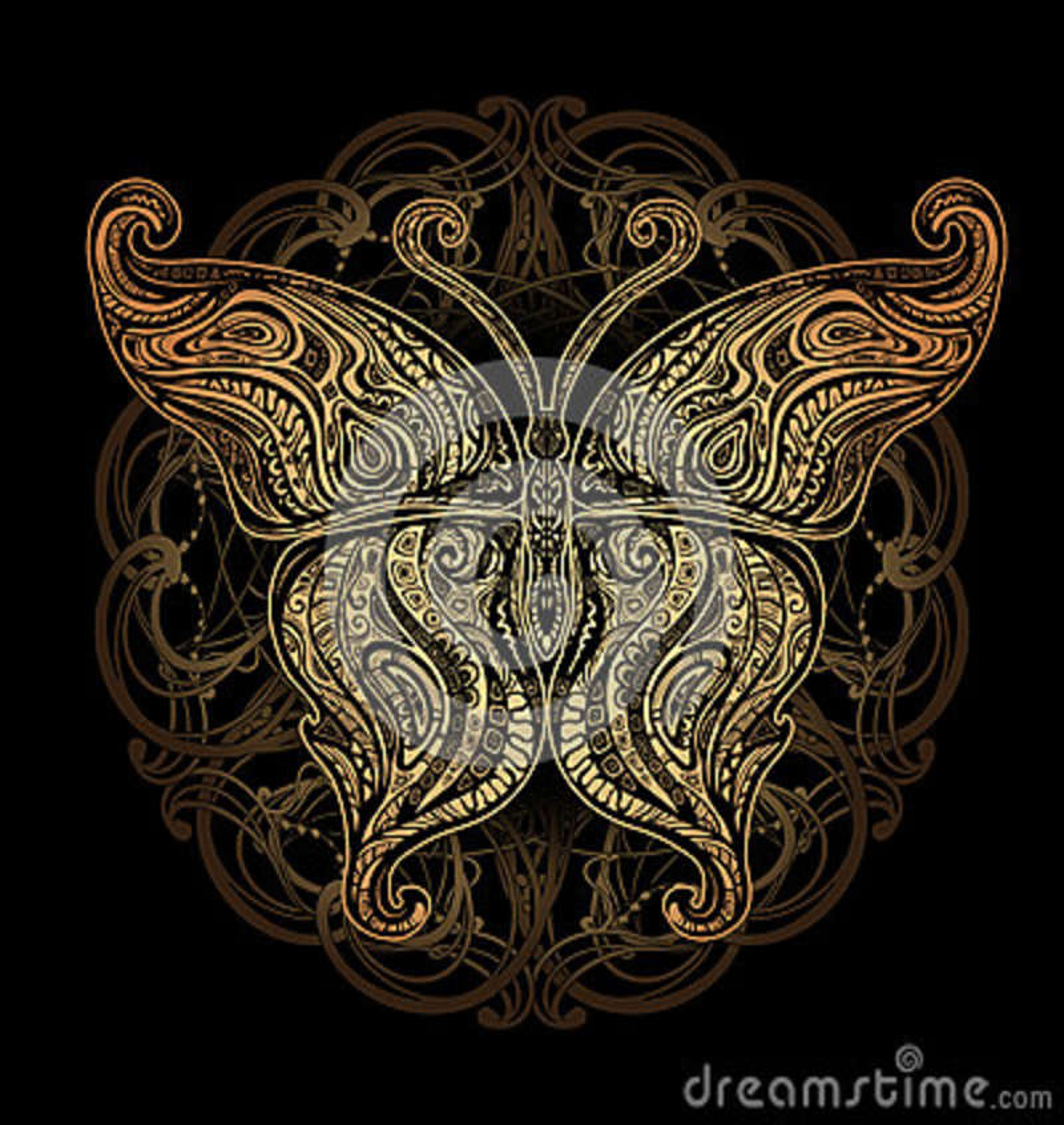 Татуировка бабочки вектора