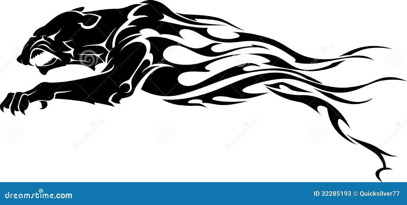 рисунок пантеры для тату