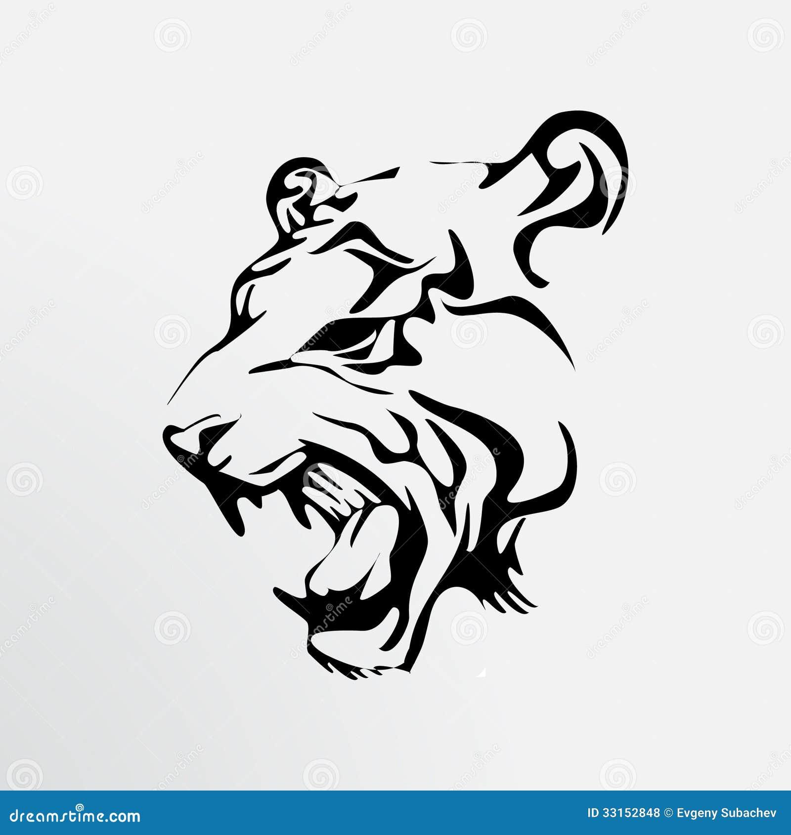 рисунки тигра для тату