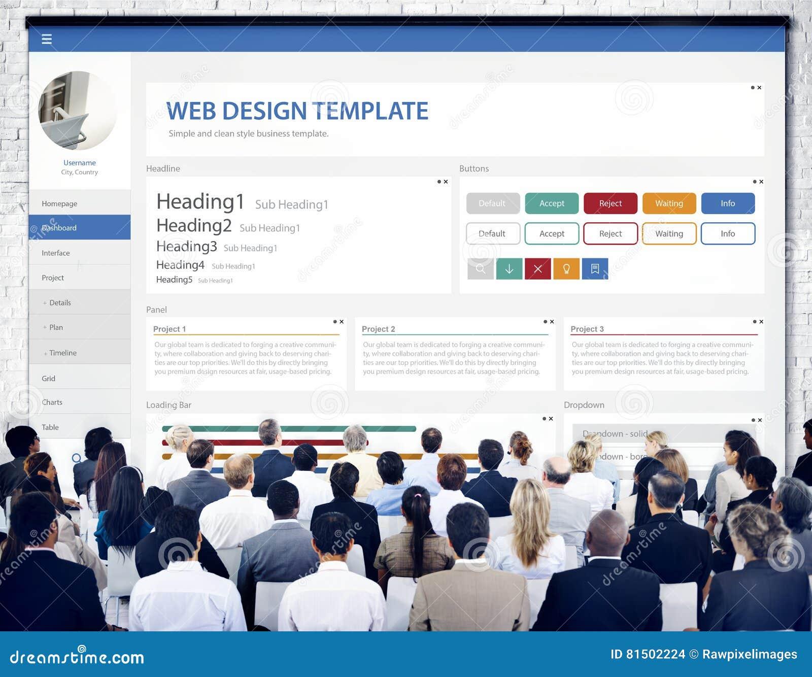 Творческая концепция шаблона дизайна вебсайта образца