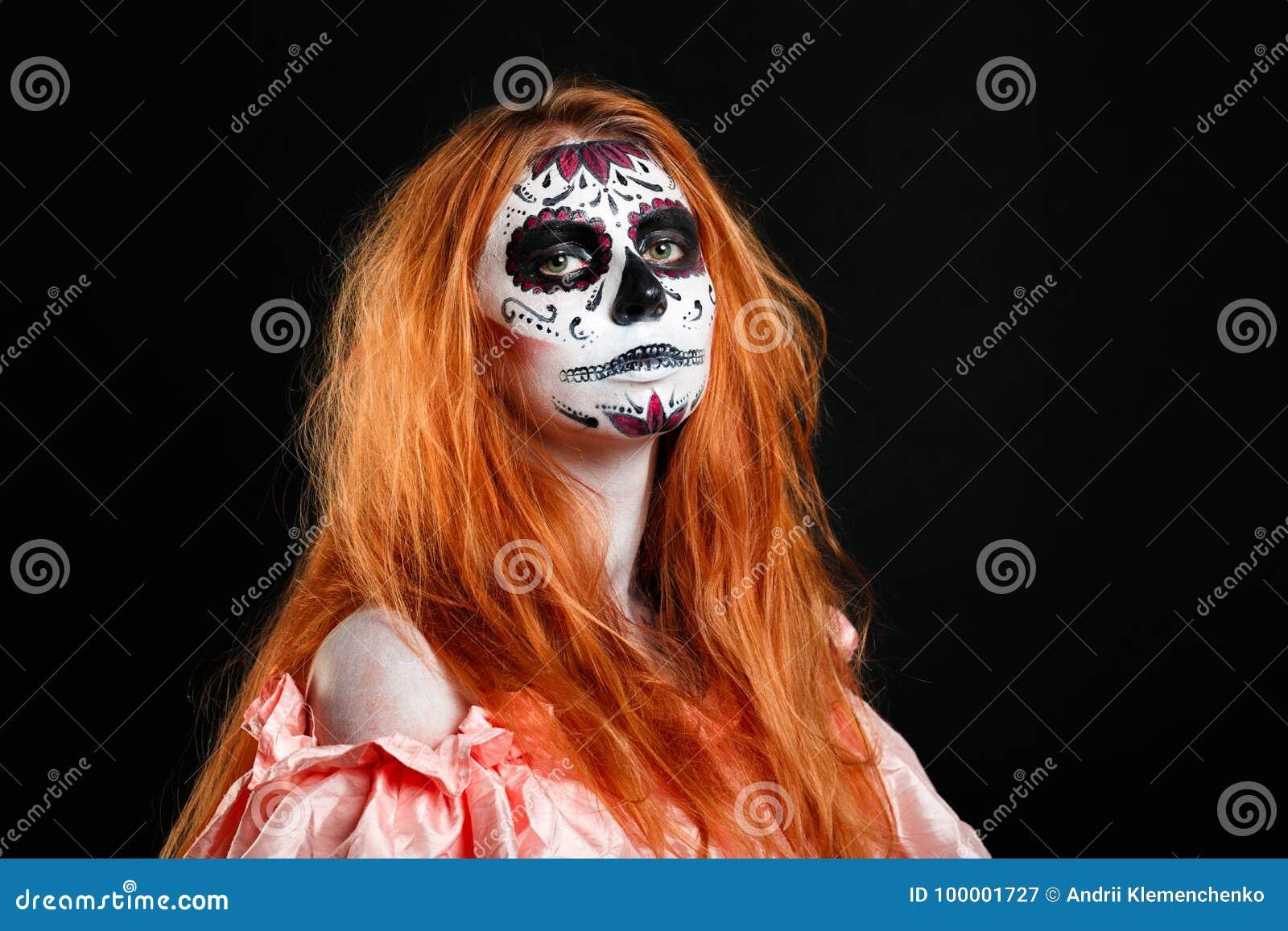 Творческий цветок портрета краски стороны День покойника