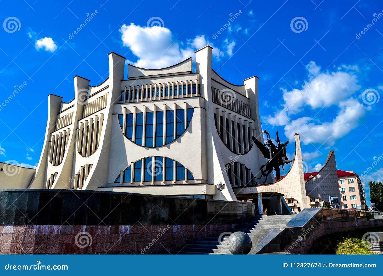 Театр драмы в Grodno в лете, Беларуси